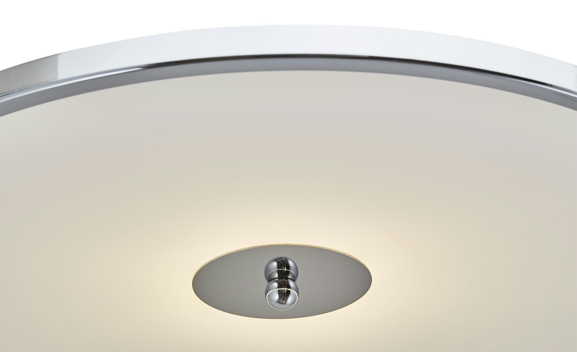 KHG LED-Deckenleuchte, 1-flammig chrom ¦ silber ¦ Maße (cm): H: 16 Ø: 40 Lampen & Leuchten > Innenleuchten > Deckenleuchten - Höffner
