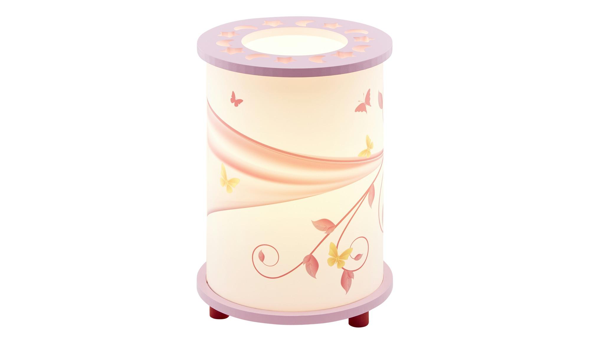 Tischleuchte, 1-flammig,weiß/rosa ¦ rosa/pink ¦ Maße (cm): H: 25 Ø: [20.0] Lampen & Leuchten > Innenleuchten > Kinderlampen - Höffner