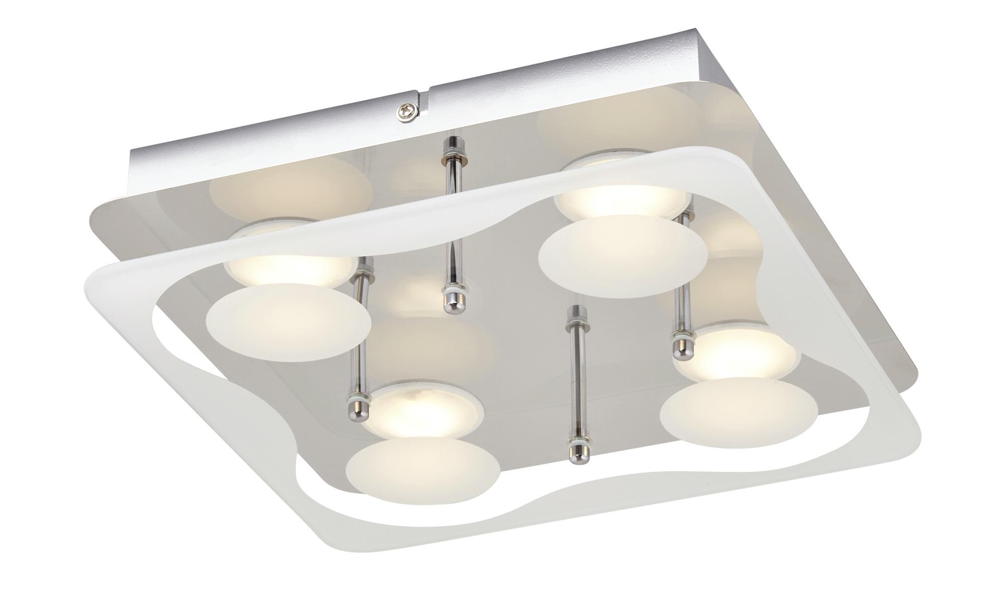 KHG LED-Deckenleuchte ¦ silber ¦ Maße (cm): B: 25 H: 6 Lampen & Leuchten > Innenleuchten > Deckenleuchten - Höffner