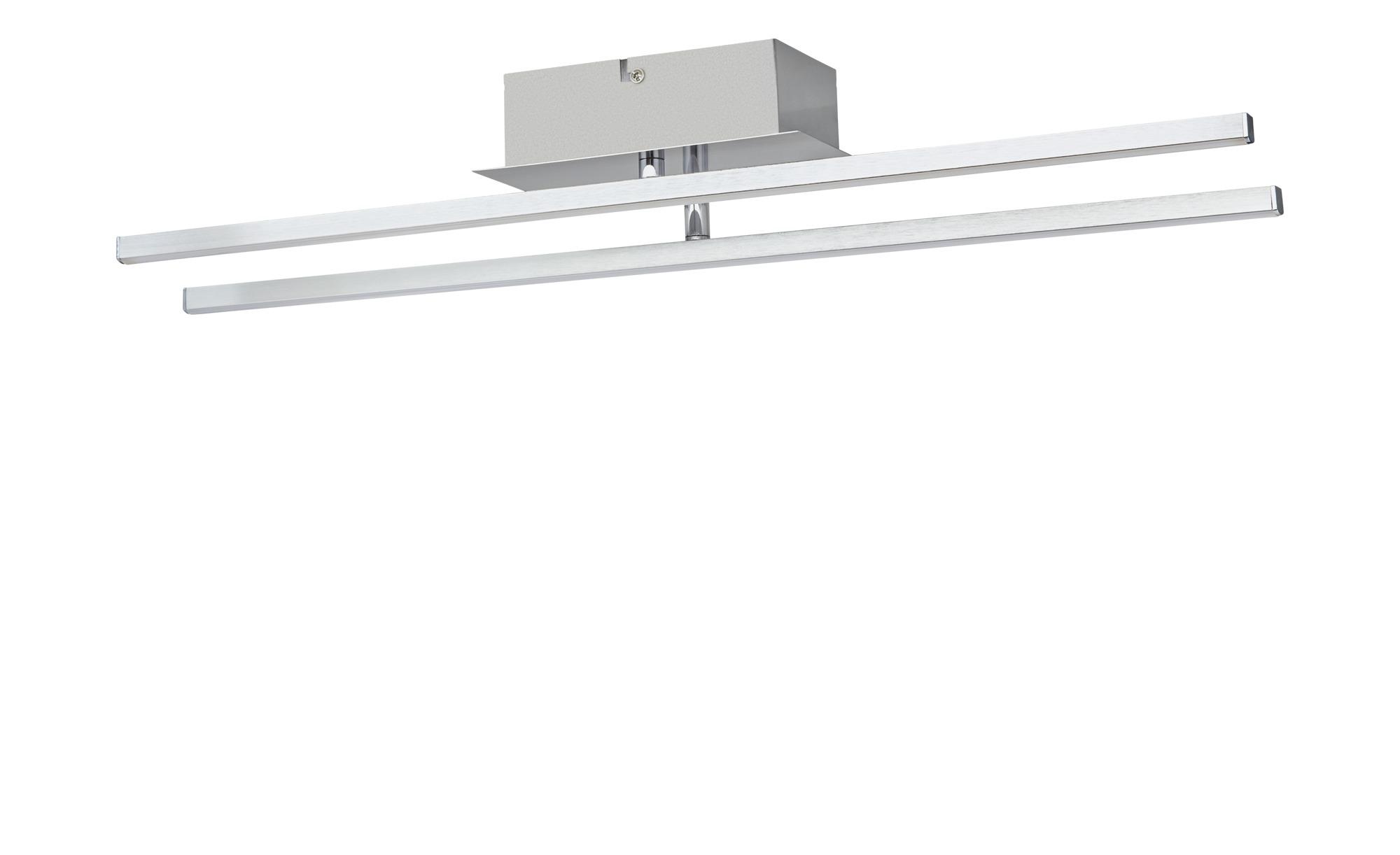 KHG LED-Deckenleuchte, 2-flammig nickel matt ¦ silber ¦ Maße (cm): B: 10 H: 8 Lampen & Leuchten > Innenleuchten > Deckenleuchten - Höffner