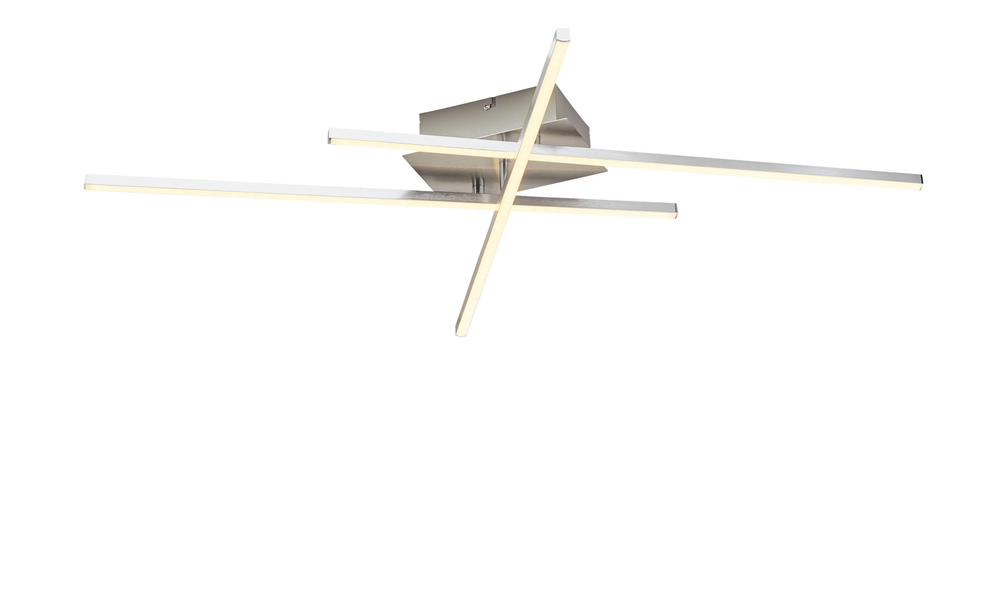 KHG LED-Deckenleuchte, 3-flammig nickel matt ¦ silber ¦ Maße (cm): B: 12 H: 8 Lampen & Leuchten > Innenleuchten > Deckenleuchten - Höffner