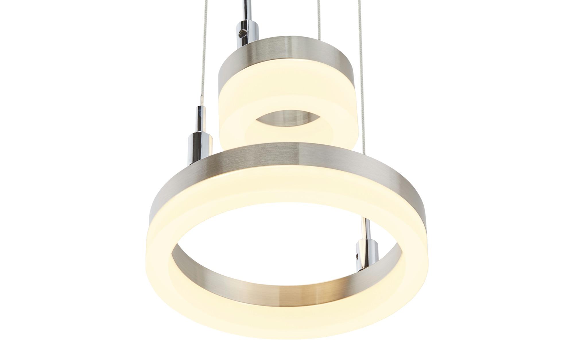 Meisterleuchten LED-Pendelleuchte, 2-flammig, nickel matt ¦ silber ¦ Maße (cm): H: 150 Ø: 18 Lampen & Leuchten > LED-Leuchten > LED-Pendelleuchten - Höffner