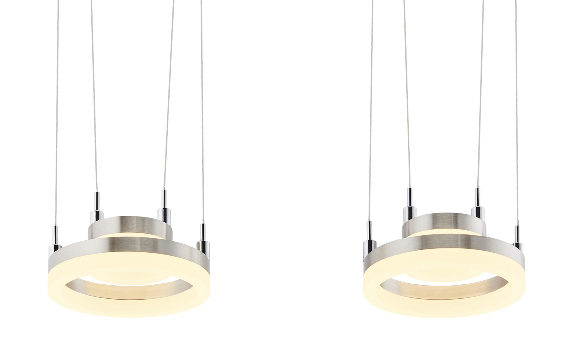 Meisterleuchten LED-Pendelleuchte, 4-flammig, nickel matt ¦ silber ¦ Maße (cm): B: 15 H: 150 Lampen & Leuchten > LED-Leuchten > LED-Pendelleuchten - Höffner