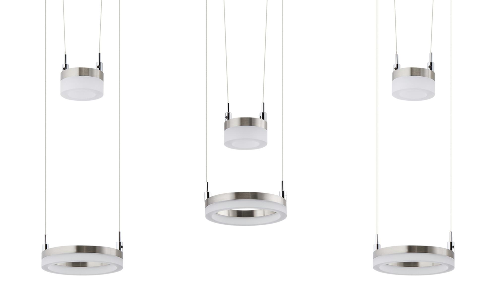ML LED-Pendelleuchte, 6-flammig, nickel matt ¦ silber ¦ Maße (cm): B: 15 H: 150 Lampen & Leuchten > LED-Leuchten > LED-Pendelleuchten - Höffner