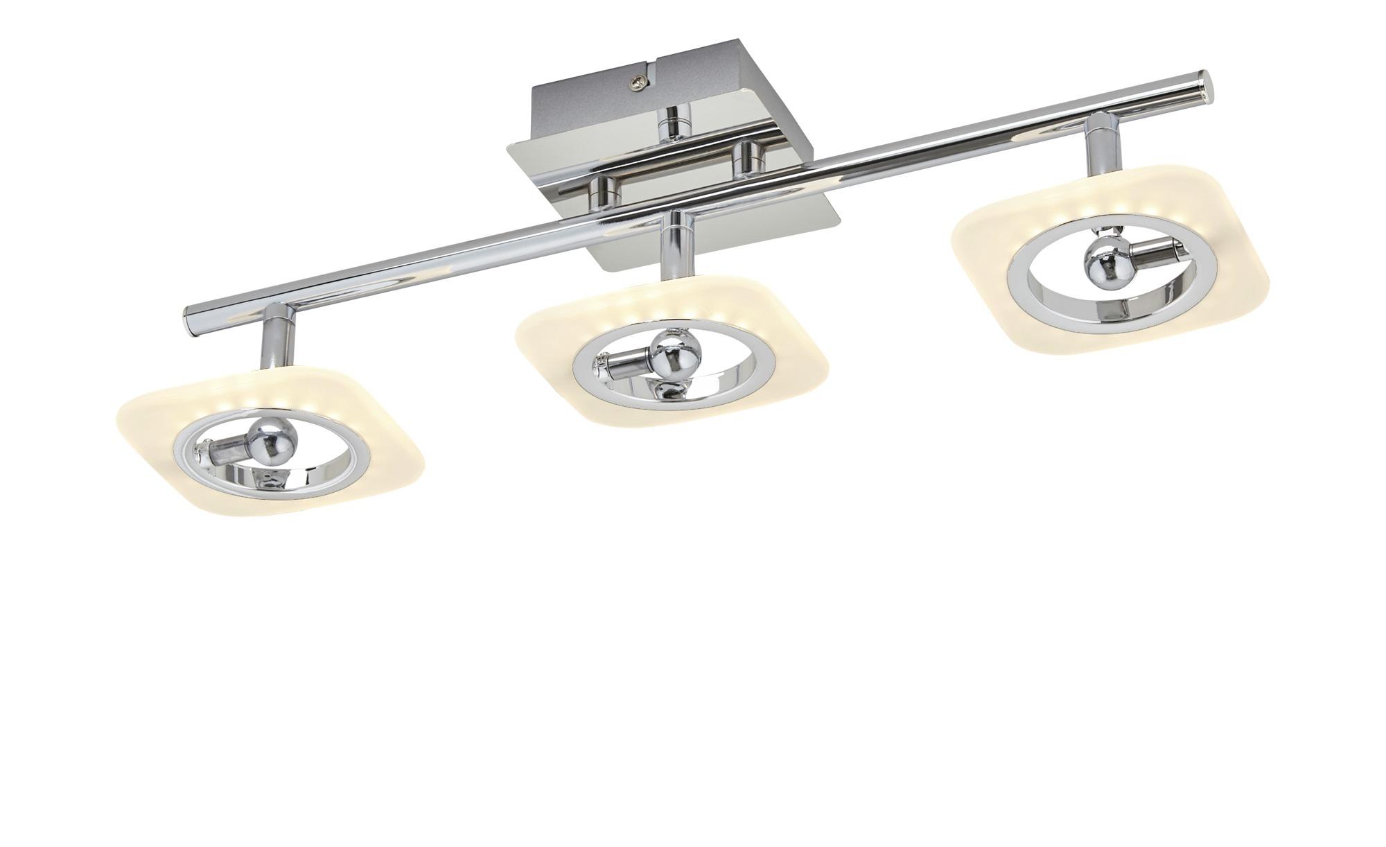 KHG LED-Deckenstrahler, 3-flammig chrom ¦ silber ¦ Maße (cm): B: 10 H: 11,5 Lampen & Leuchten > LED-Leuchten > LED-Strahler & Spots - Höffner