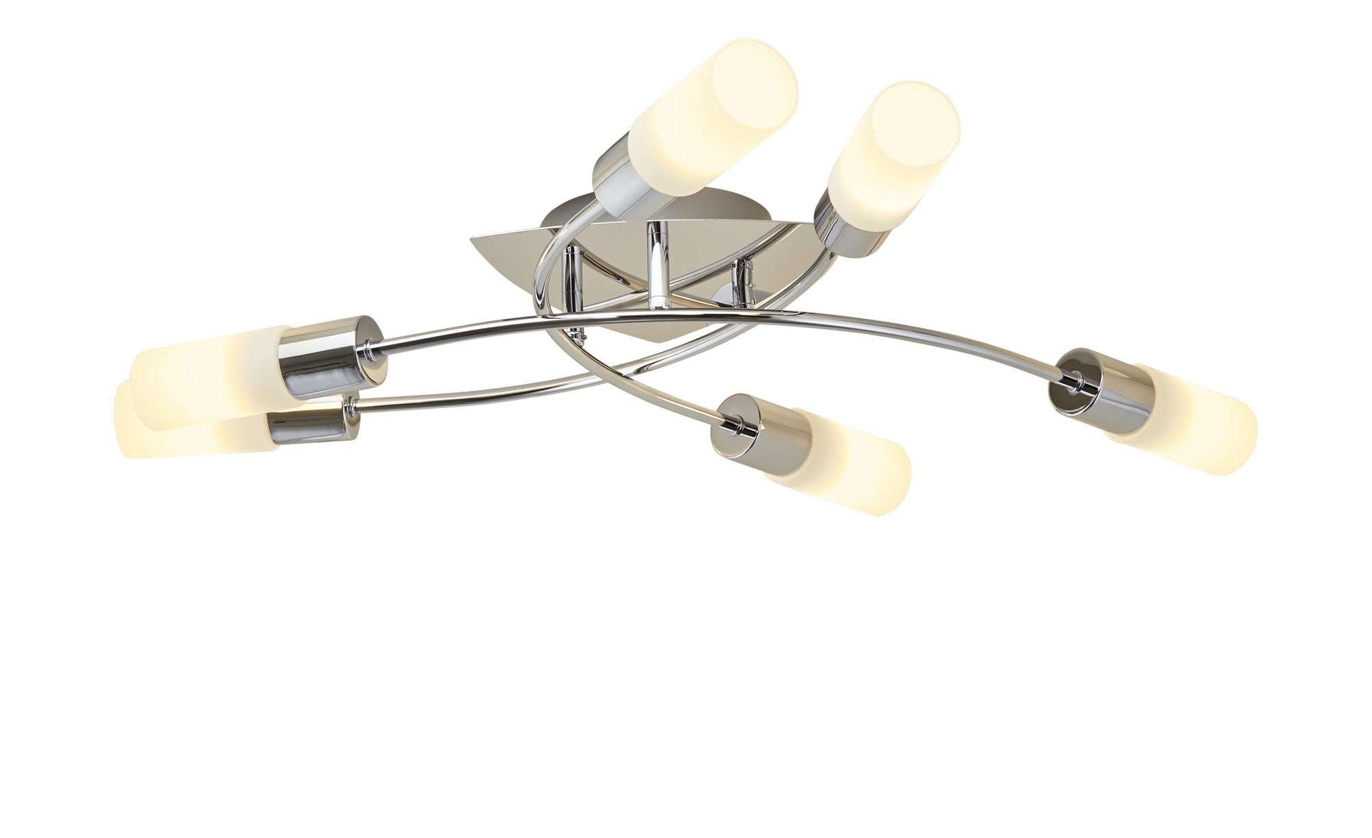 KHG LED-Deckenleuchte, 6-flammig ¦ silber ¦ Maße (cm): B: 54,5 H: 10 Lampen & Leuchten > Innenleuchten > Deckenleuchten - Höffner