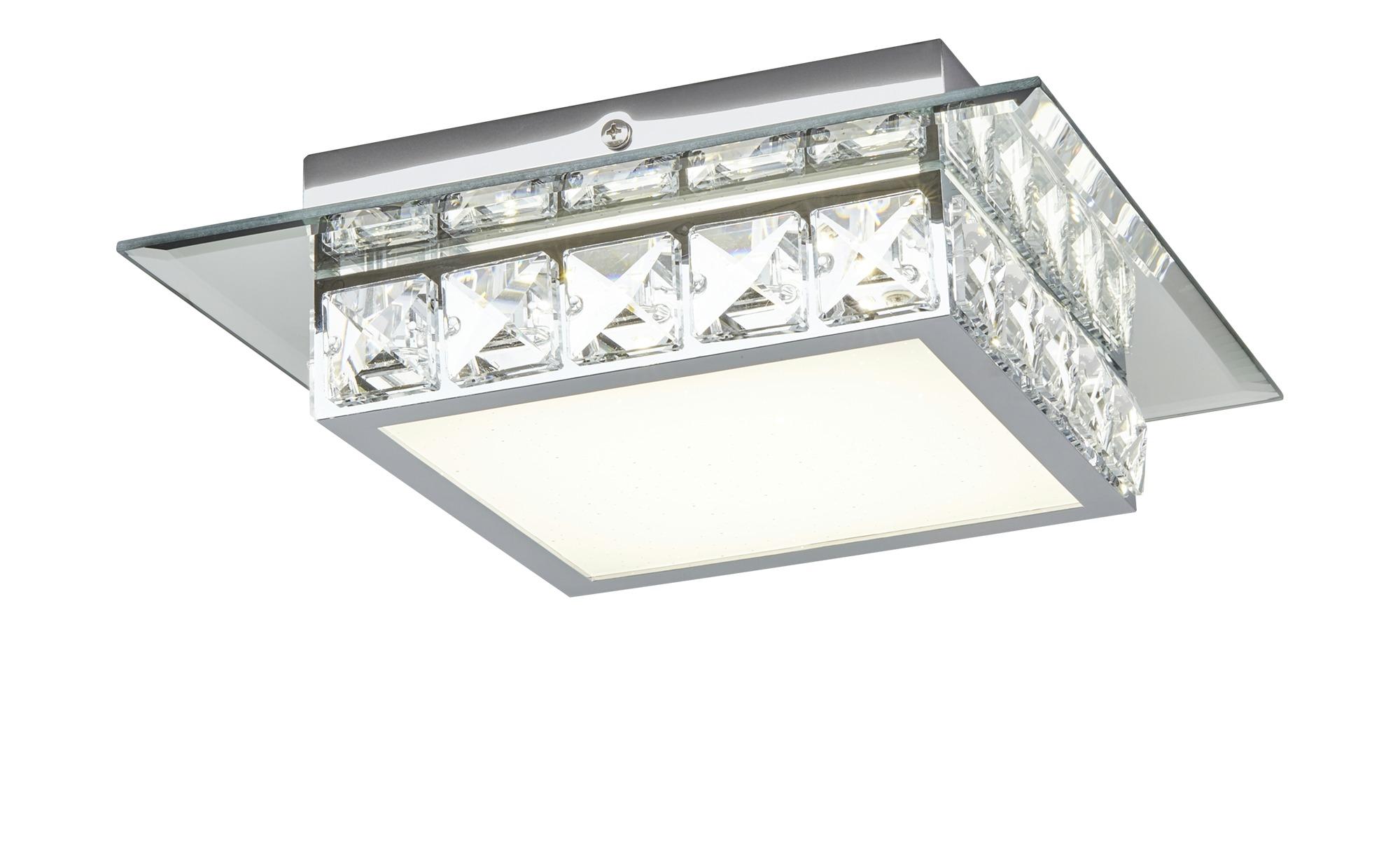 KHG LED-Deckenleuchte, 1-flammig, Kristall ¦ silber ¦ Maße (cm): B: 24,8 H: 7 Ø: [24.8] Lampen & Leuchten > Innenleuchten > Deckenleuchten - Höffner