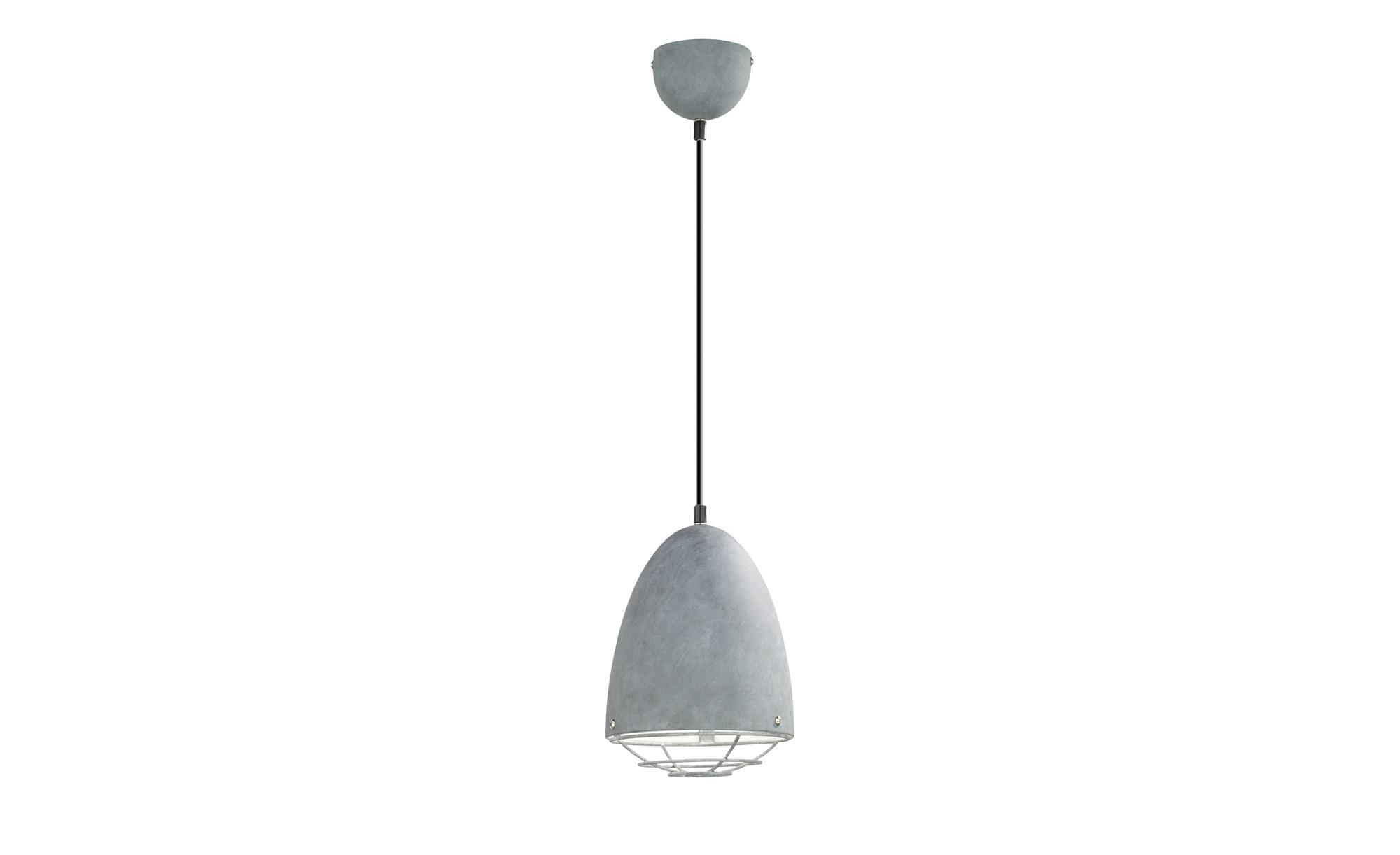 Hängeleuchte 1-flammig ¦ grau ¦ Maße (cm): H: 150 Ø: 19 Lampen & Leuchten > Innenleuchten > Pendelleuchten - Höffner