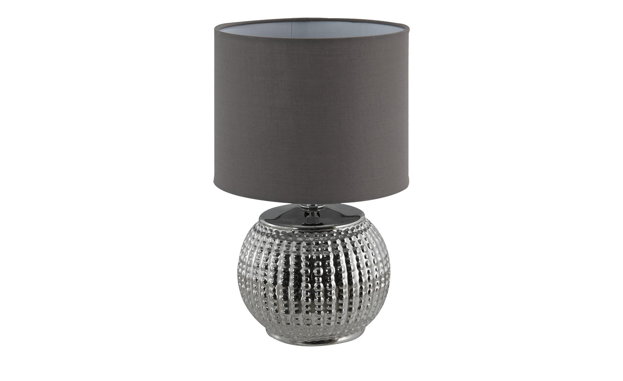 Tischleuchte mit chromfarbenen Fuß ¦ silber ¦ Maße (cm): H: 30 Ø: 20 Lampen & Leuchten > Innenleuchten > Tischlampen - Höffner