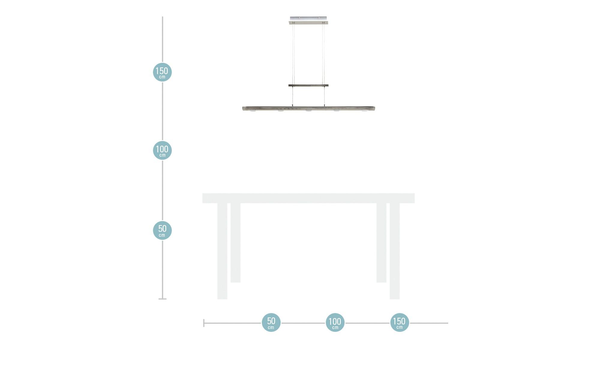Trio LED-Pendelleuchte, nickel matt mit Dimmer ¦ silber Lampen & Leuchten > LED-Leuchten > LED-Pendelleuchten - Höffner