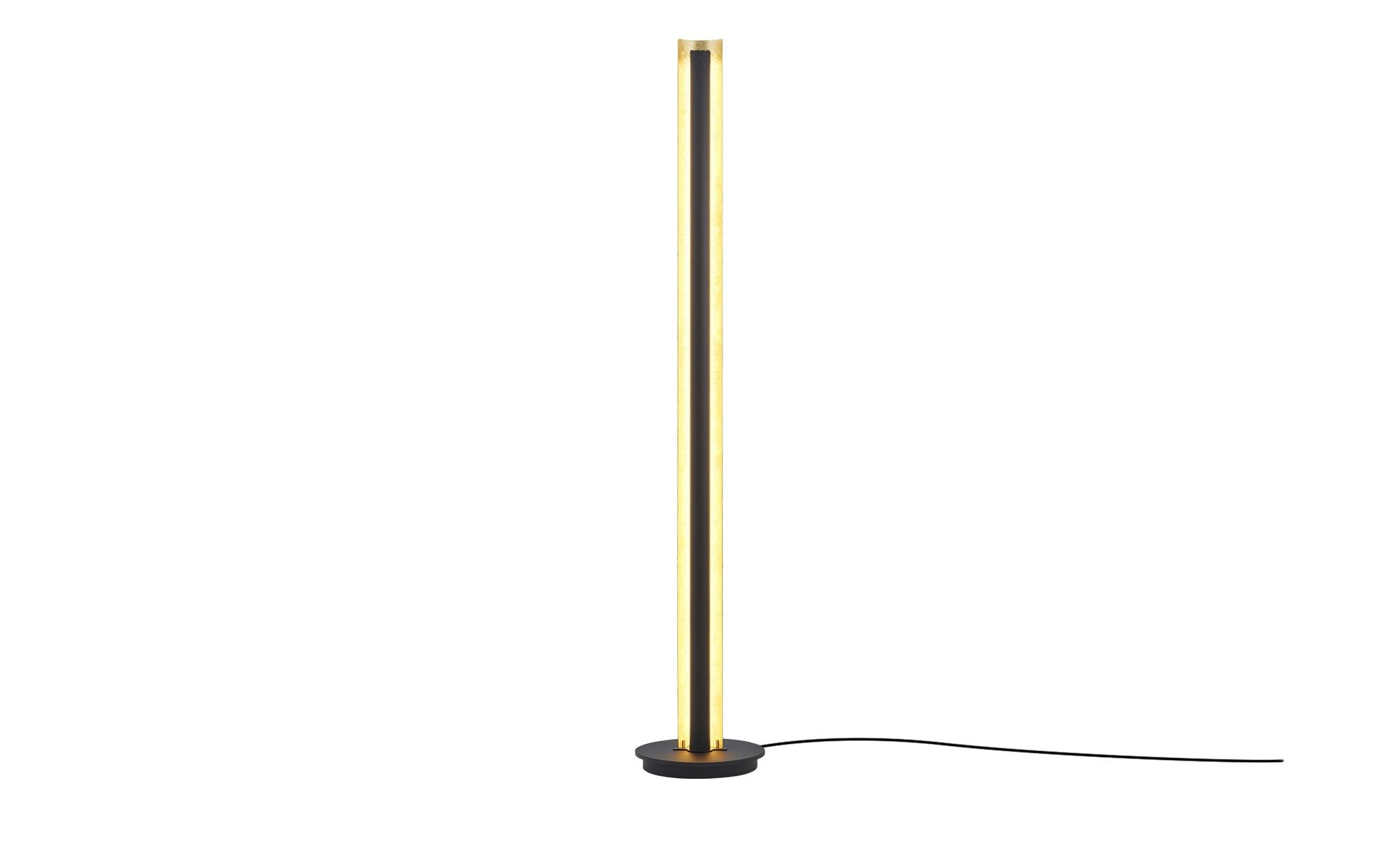 Trio LED-Stehleuchte, Schwarz / goldfarben ¦ schwarz ¦ Maße (cm): H: 142,5 Lampen & Leuchten > Innenleuchten > Stehlampen - Höffner