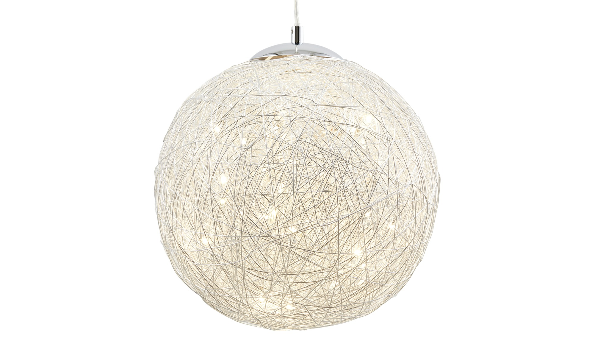 Trio LED-Pendelleuchte, 1-flammig, Drahtgeflecht ¦ silberØ: [30.0] Lampen & Leuchten > LED-Leuchten > LED-Pendelleuchten - Höffner