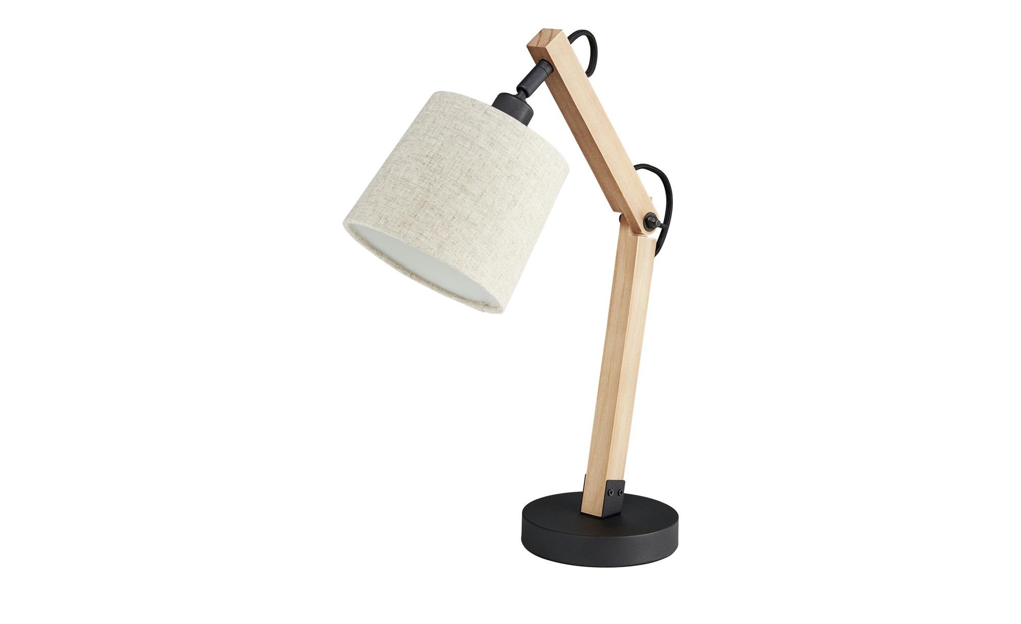 Trio Tischleuchte mit Holzfuß ¦ braun ¦ Maße (cm): H: 43 Lampen & Leuchten > Innenleuchten > Tischlampen - Höffner