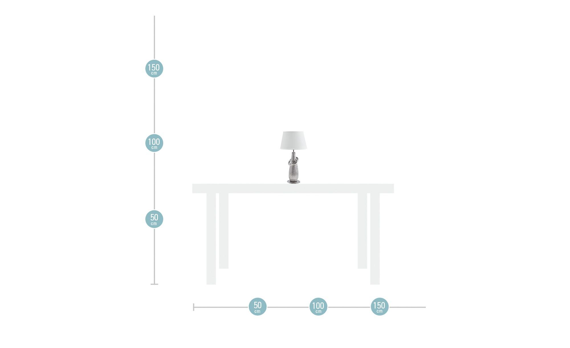 Tischleuchte silberfarben ¦ silber ¦ Maße (cm): H: 38 Ø: [20.0] Lampen & Leuchten > Innenleuchten > Tischlampen - Höffner