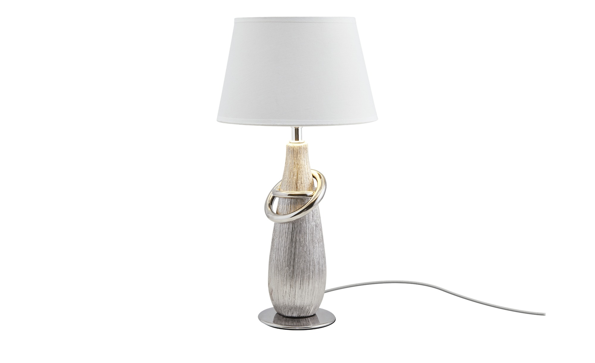 Tischleuchte silberfarben ¦ silber ¦ Maße (cm): H: 38 Ø: 20 Lampen & Leuchten > Innenleuchten > Tischlampen - Höffner