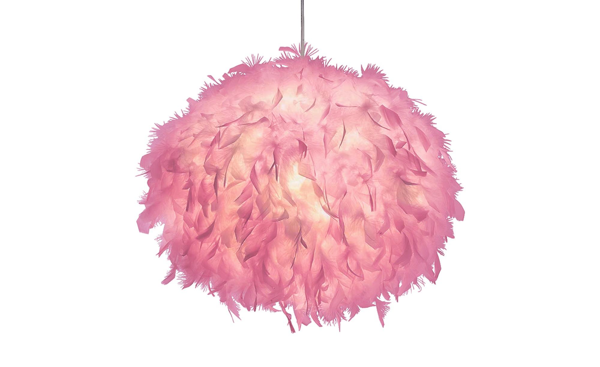 Pendelleuchte, 1-flammig, Federn in Pink ¦ rosa/pinkØ: [40.0] Marken Übersicht - Höffner