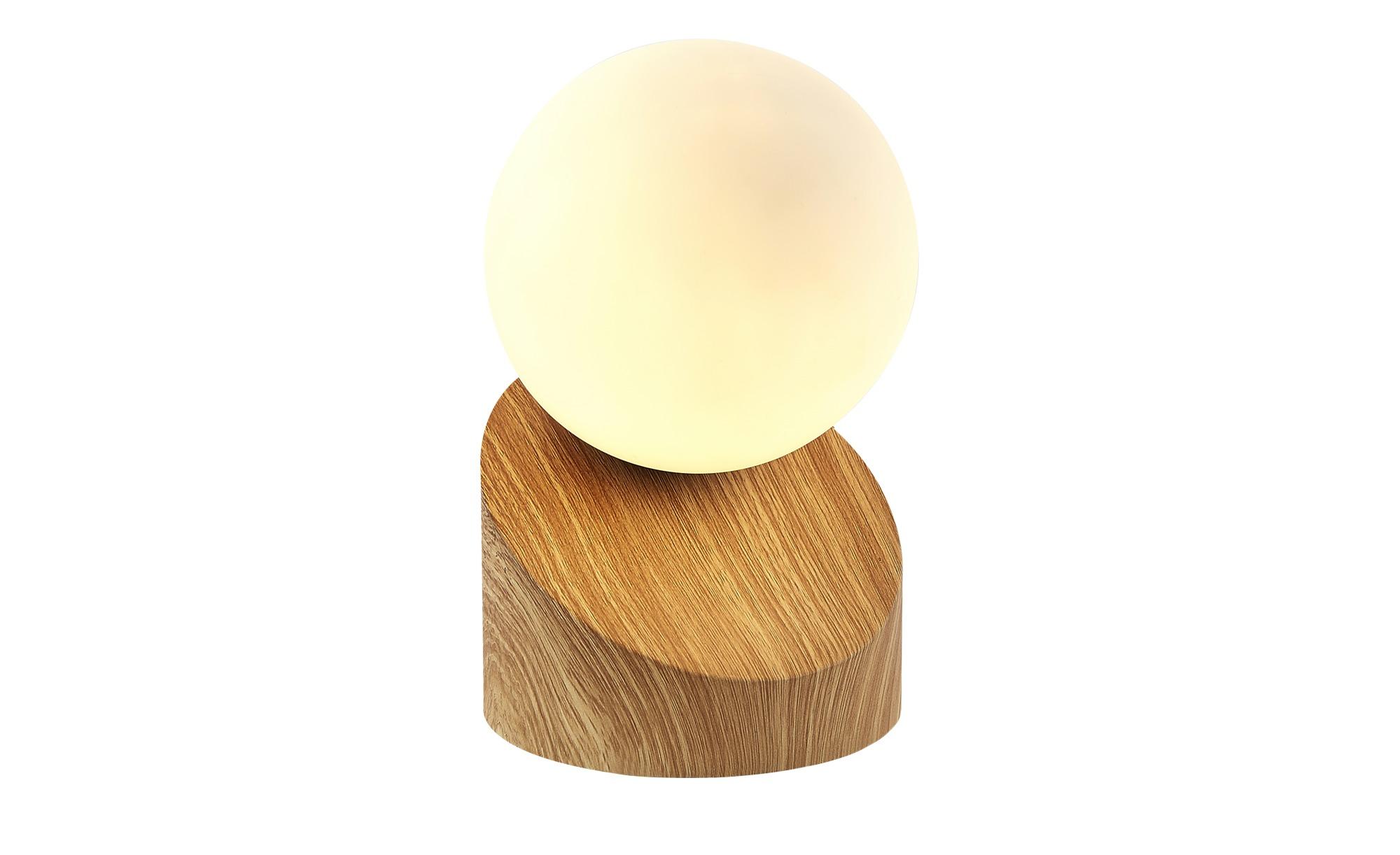 Tischleuchte, Holzoptik mit Touchschalter ¦ braun ¦ Maße (cm): H: 16 Lampen & Leuchten > Innenleuchten > Tischlampen - Höffner