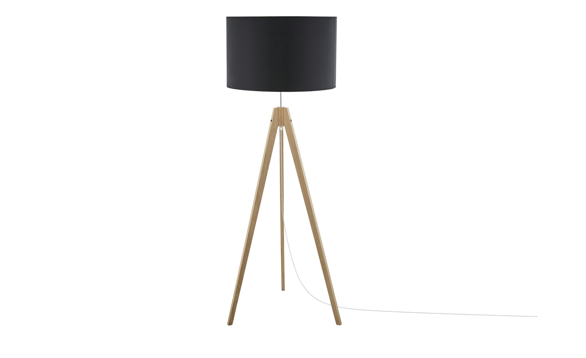 Dreibein-Stehleuchte, Schwarz ¦ schwarz ¦ Maße (cm): H: 140 Ø: [50.0] Lampen & Leuchten > Innenleuchten > Stehlampen - Höffner