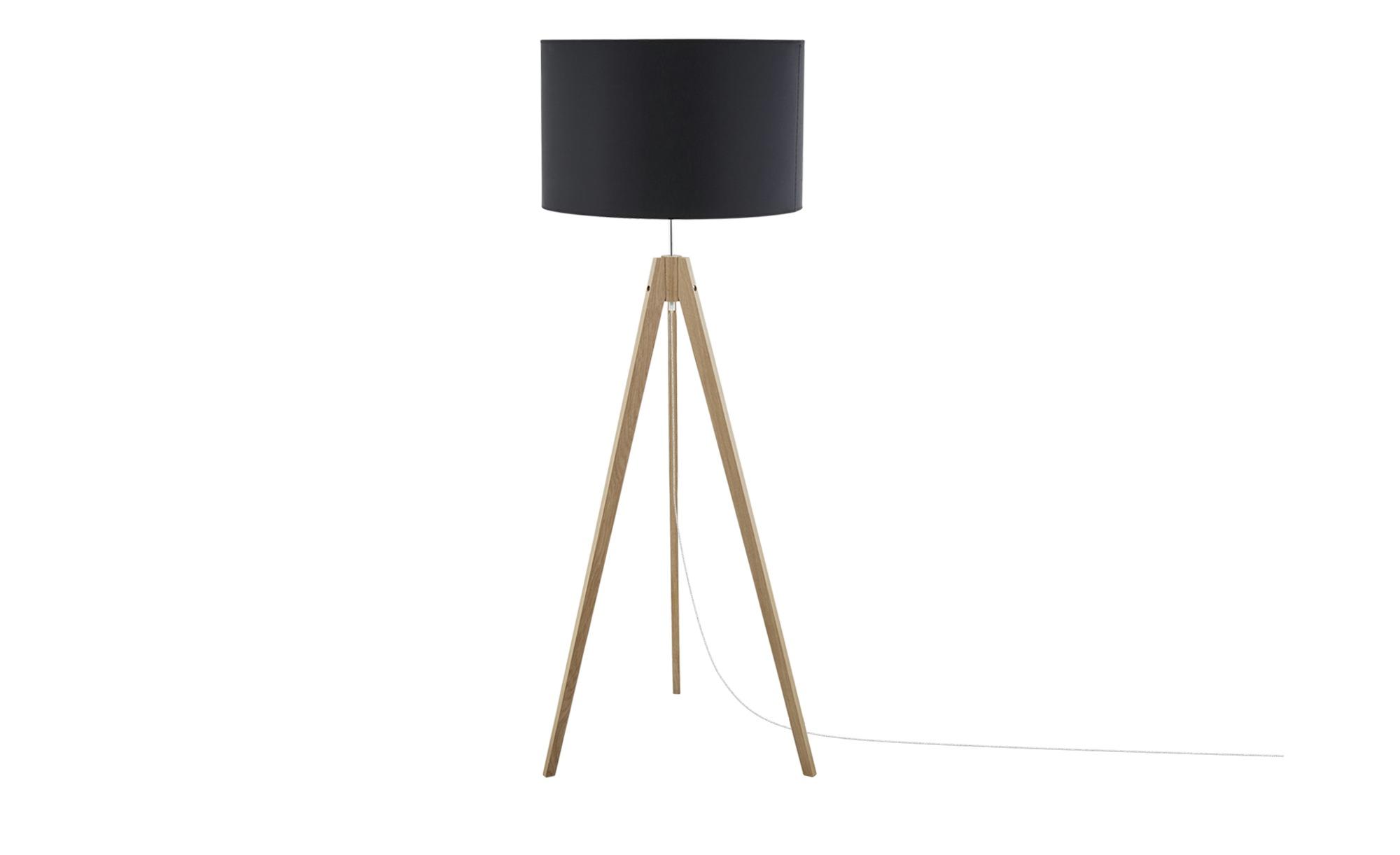 Dreibein-Stehleuchte, Schwarz ¦ schwarz ¦ Maße (cm): H: 140 Ø: 50 Lampen & Leuchten > Innenleuchten > Stehlampen - Höffner