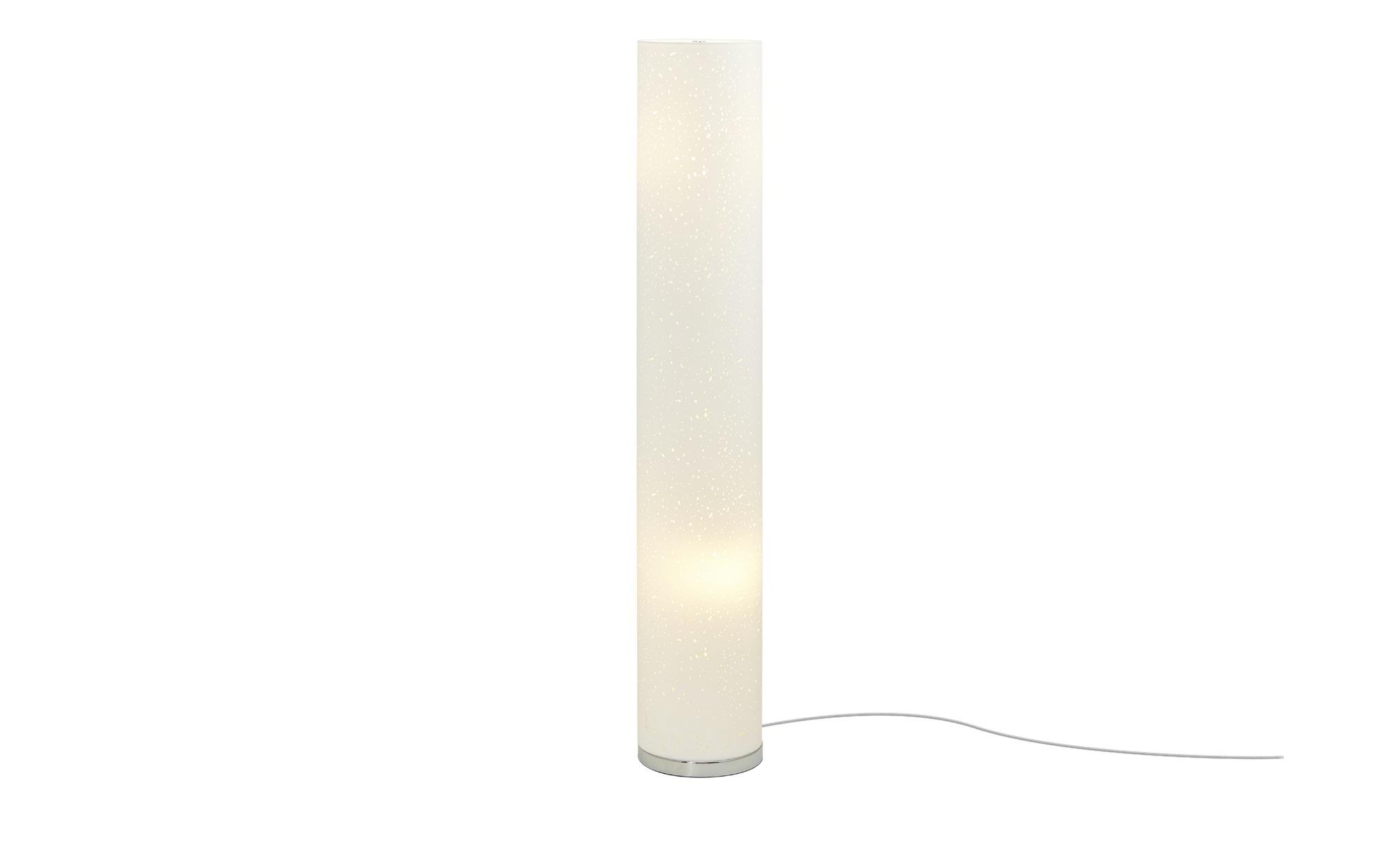 Fischer-Honsel Stehleuchte, 2-flammig, Weiß mit Dekor ¦ weiß ¦ Maße (cm): H: 110 Ø: [19.0] Lampen & Leuchten > Innenleuchten > Stehlampen - Höffner