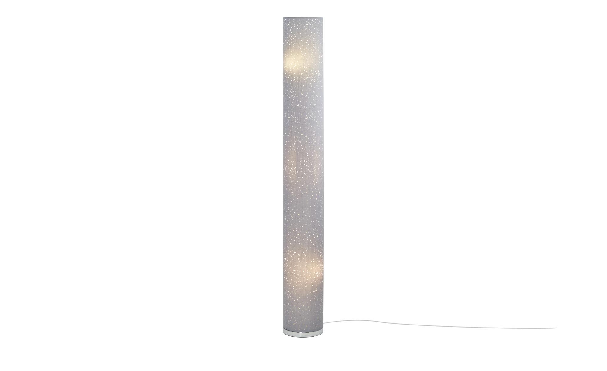 Fischer-Honsel Stehleuchte, 3-flammig, Grau mit Dekor ¦ grau ¦ Maße (cm): H: 156 Ø: [19.0] Lampen & Leuchten > Innenleuchten > Stehlampen - Höffner