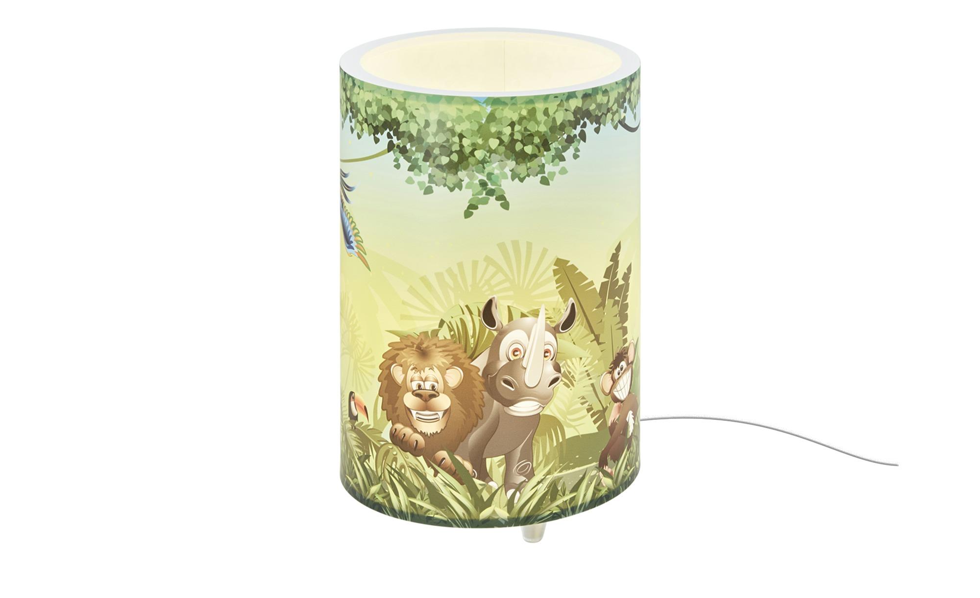 Tischleuchte ´Wildnis´ ¦ grün ¦ Maße (cm): H: 25 Ø: 10 Lampen & Leuchten > Innenleuchten > Kinderlampen - Höffner