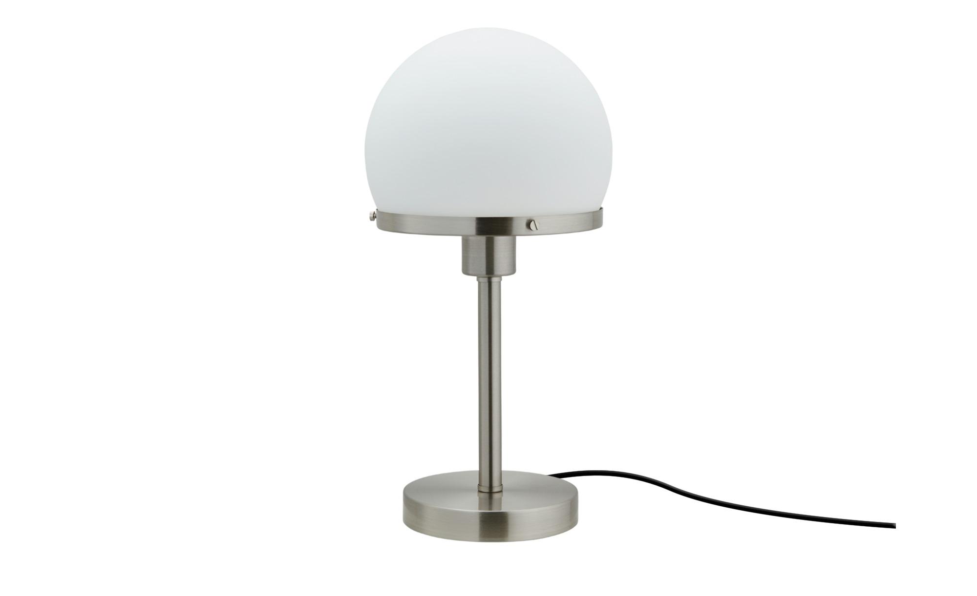 KHG Tischleuchte, Nickel matt ¦ silber ¦ Maße (cm): H: 39 Ø: 19.5 Lampen & Leuchten > Innenleuchten > Tischlampen - Höffner