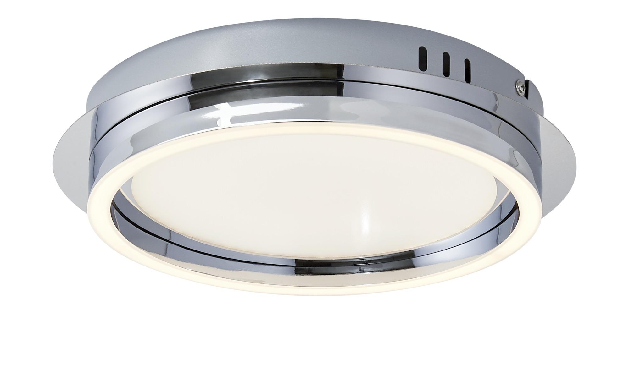 KHG LED-Deckenleuchte, chrom, mit Serienschaltung ¦ silber ¦ Maße (cm): H: 6,5 Ø: [30.0] Lampen & Leuchten > Innenleuchten > Deckenleuchten - Höffner