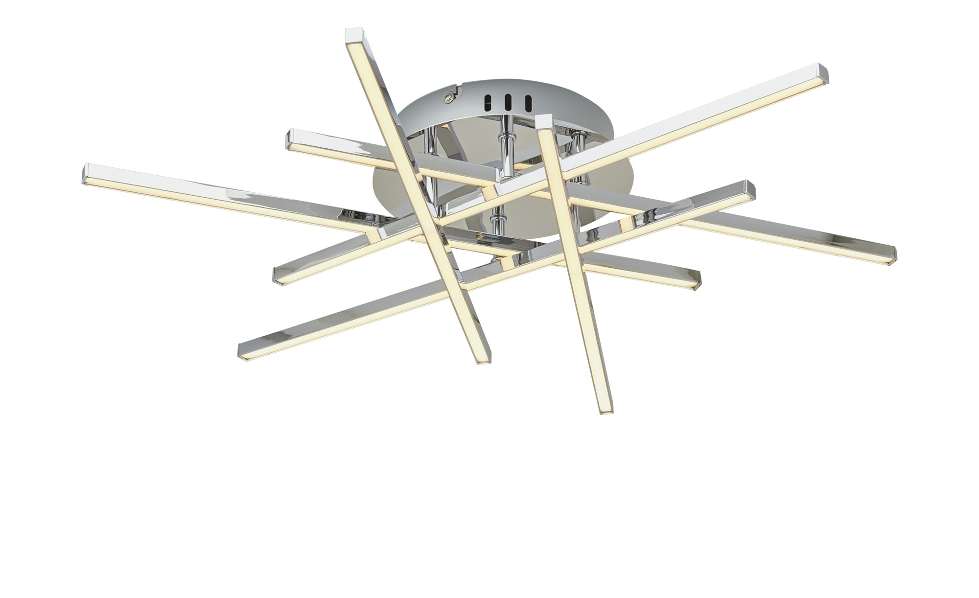 Paul Sommerkamp Leuchten LED-Deckenleuchte chrom ¦ silber ¦ Maße (cm): H: 10,5 Ø: 64 Lampen & Leuchten > Innenleuchten > Deckenleuchten - Höffner