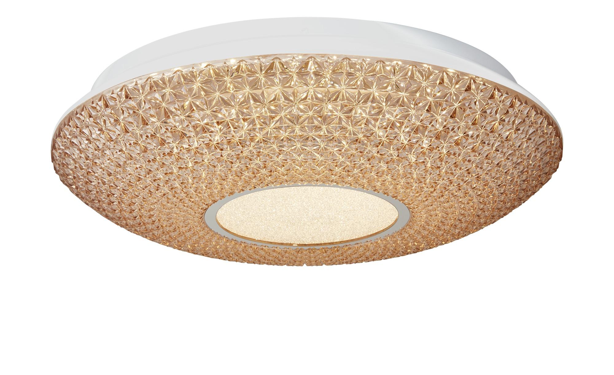 KHG LED-Deckenleuchte, Acryl in Kristalloptik ¦ creme ¦ Maße (cm): H: 10 Ø: 41 Lampen & Leuchten > Innenleuchten > Deckenleuchten - Höffner