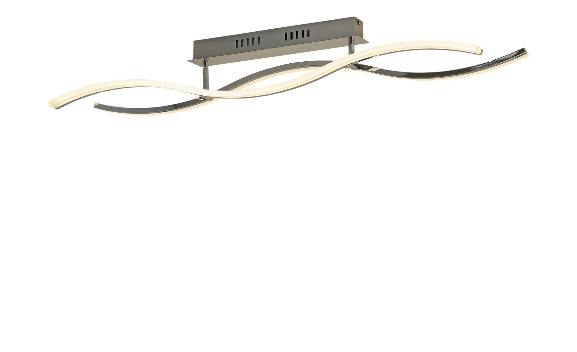 KHG LED-Deckenleuchte, chrom `Wavy` ¦ silber ¦ Maße (cm): B: 11 H: 15 Lampen & Leuchten > Innenleuchten > Deckenleuchten - Höffner