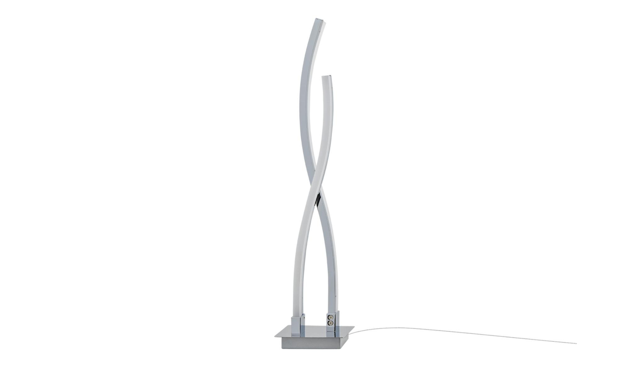 KHG LED-Tischleuchte, chrom `Wavy` ¦ silber ¦ Maße (cm): H: 53,5 Ø: 12 Lampen & Leuchten > Innenleuchten > Tischlampen - Höffner