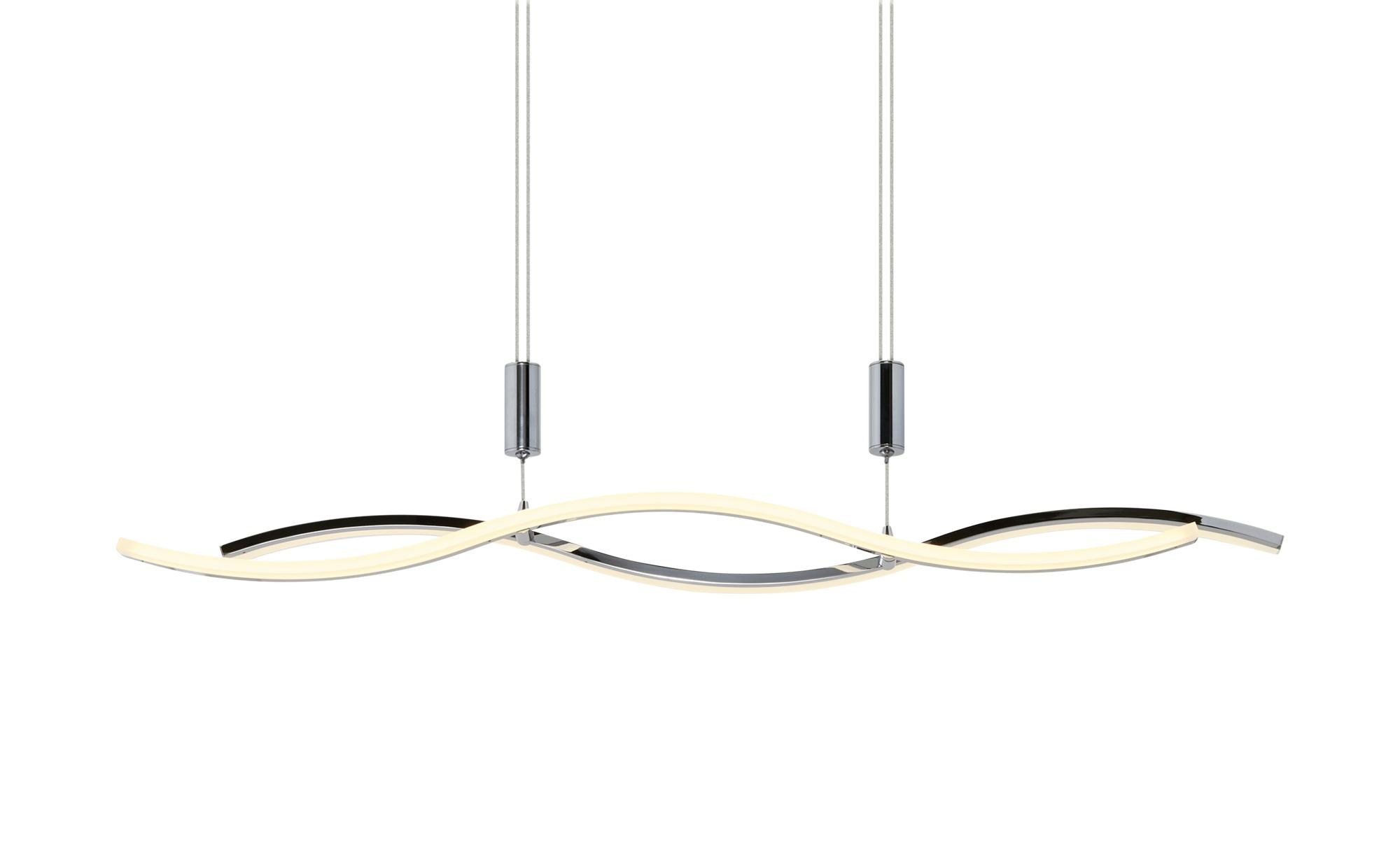 KHG LED-Pendelleuchte, chrom `Wavy´ ¦ silber ¦ Maße (cm): B: 8 H: 150 Lampen & Leuchten > LED-Leuchten > LED-Pendelleuchten - Höffner