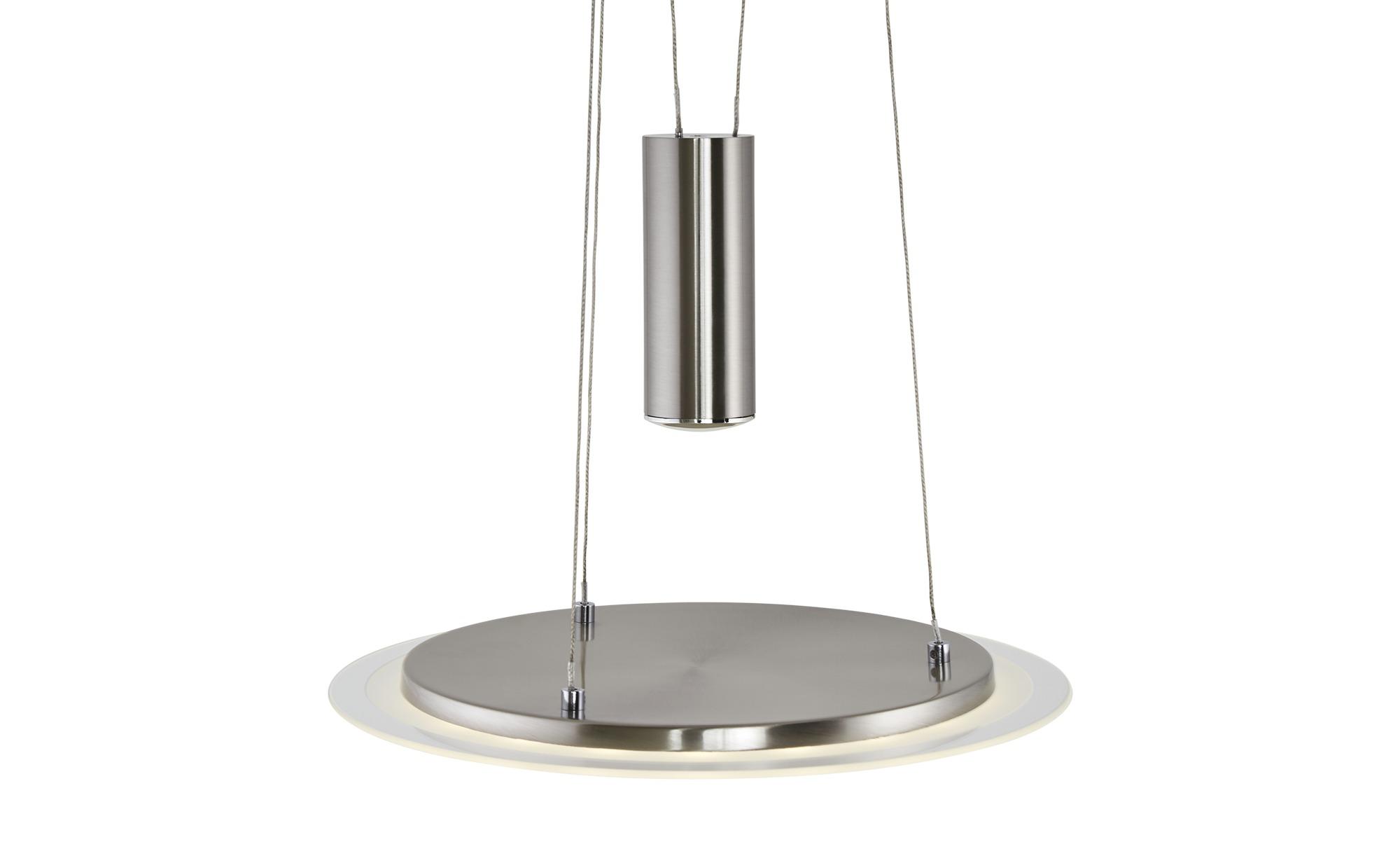 KHG LED-Pendelleuchte, Nickel matt ¦ silber ¦ Maße (cm): H: 130 Ø: [40.0] Lampen & Leuchten > LED-Leuchten > LED-Pendelleuchten - Höffner