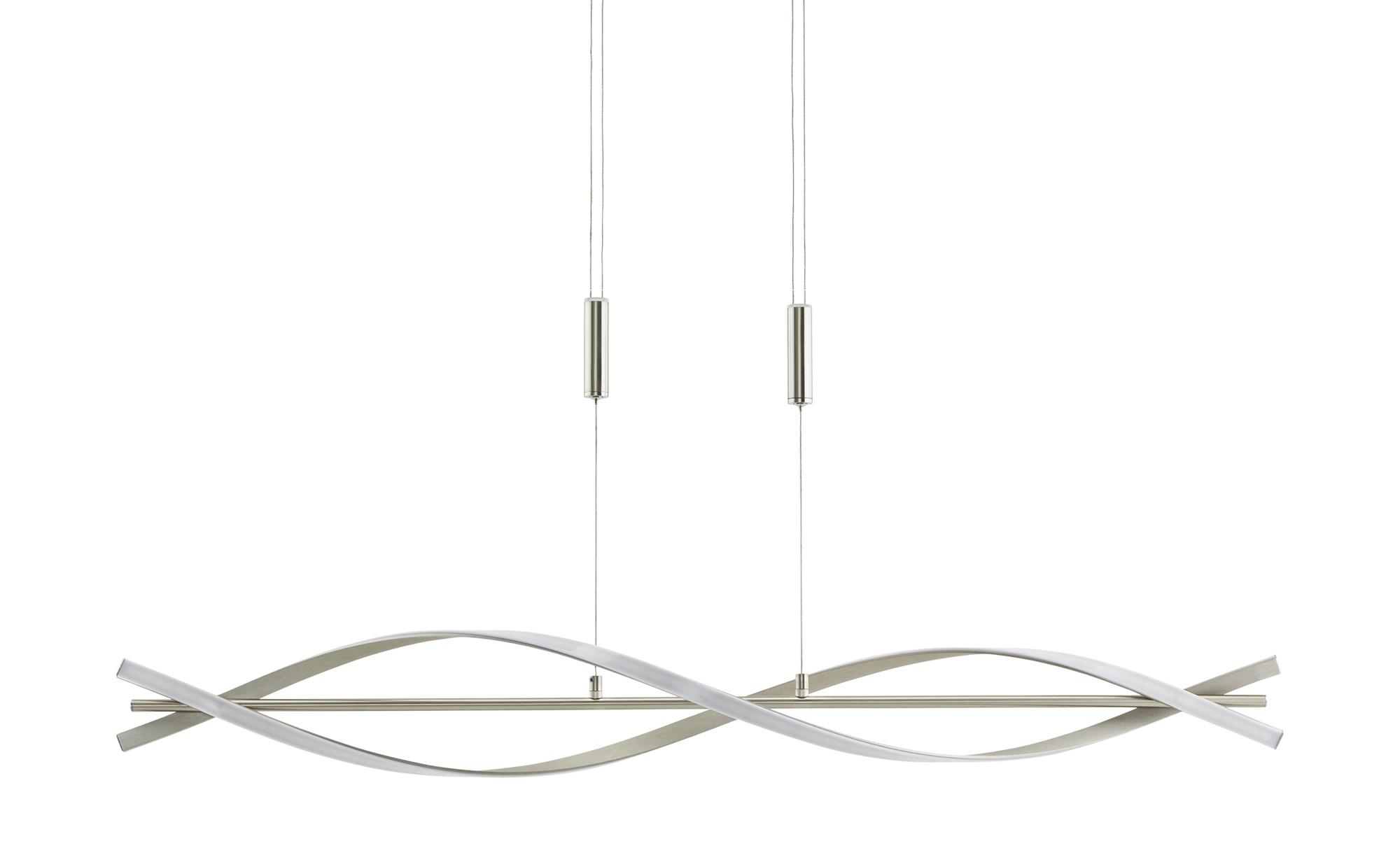 KHG LED-Pendelleuchte, 2-flammig ´verdreht´ ¦ silber ¦ Maße (cm): B: 24 H: 150 Lampen & Leuchten > LED-Leuchten > LED-Pendelleuchten - Höffner