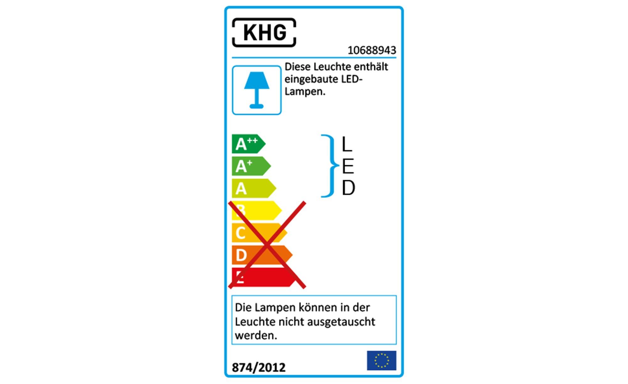 KHG LED-Stehleuchte, nickel-matt ¦ silber ¦ Maße (cm): H: 120 Ø: [18.0] Lampen & Leuchten > Innenleuchten > Stehlampen - Höffner
