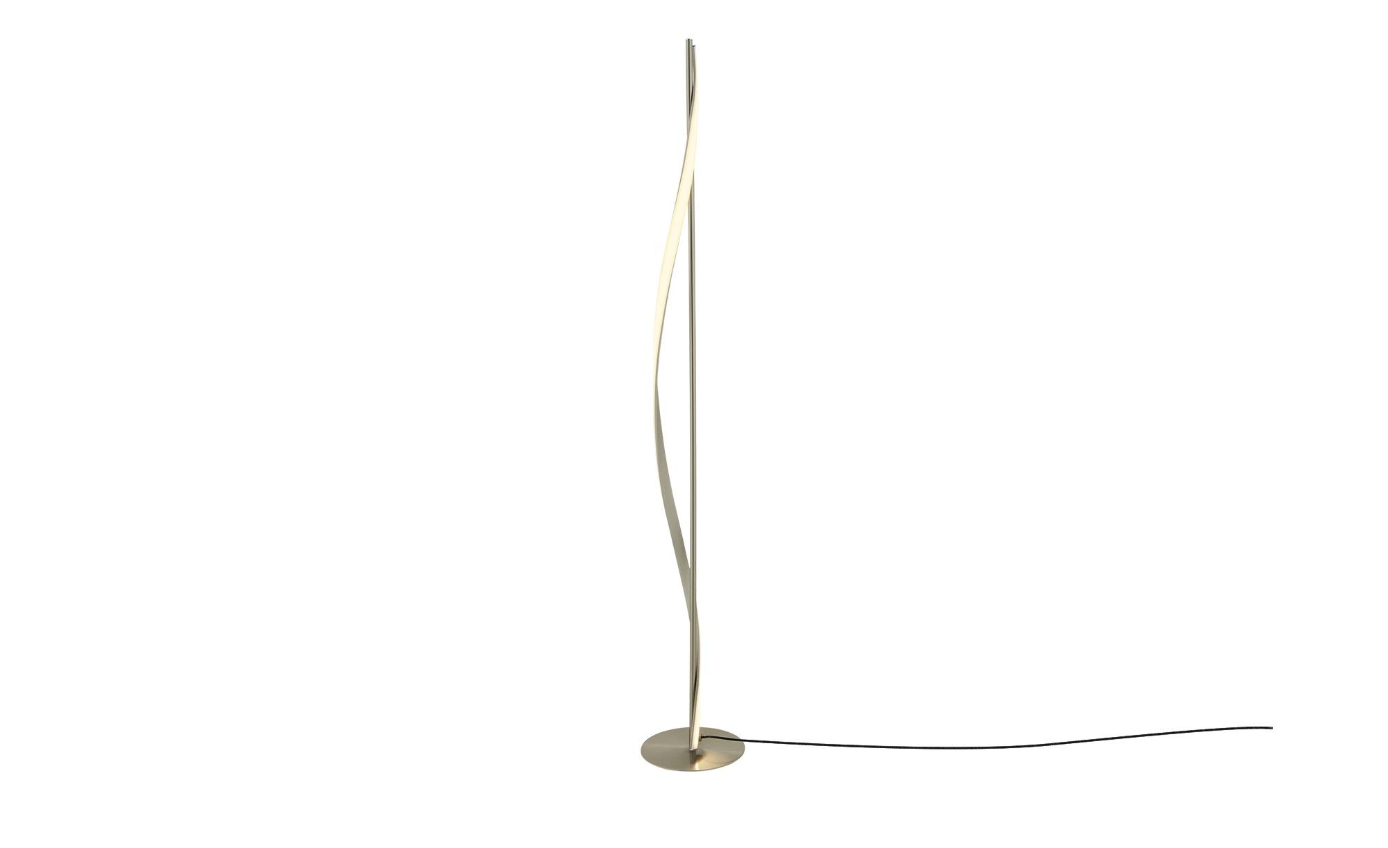 KHG LED-Stehleuchte, nickel-matt ¦ silber ¦ Maße (cm): H: 120 Ø: 18 Lampen & Leuchten > Innenleuchten > Stehlampen - Höffner