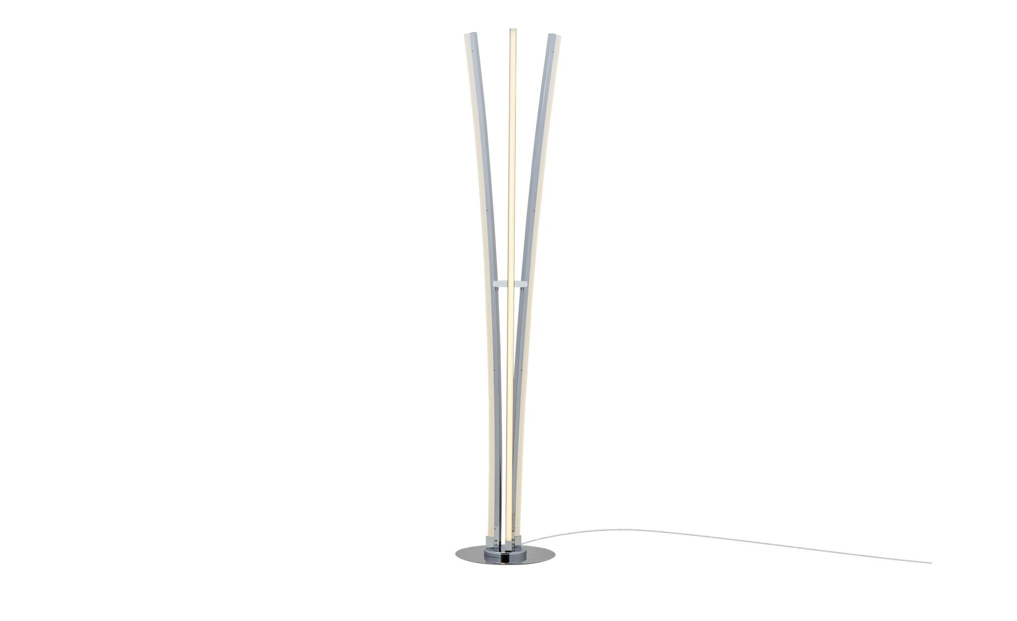 Meisterleuchten LED-Stehleuchte, 3-flammig, chrom ¦ silber ¦ Maße (cm): H: 144 Ø: 30 Lampen & Leuchten > Innenleuchten > Stehlampen - Höffner