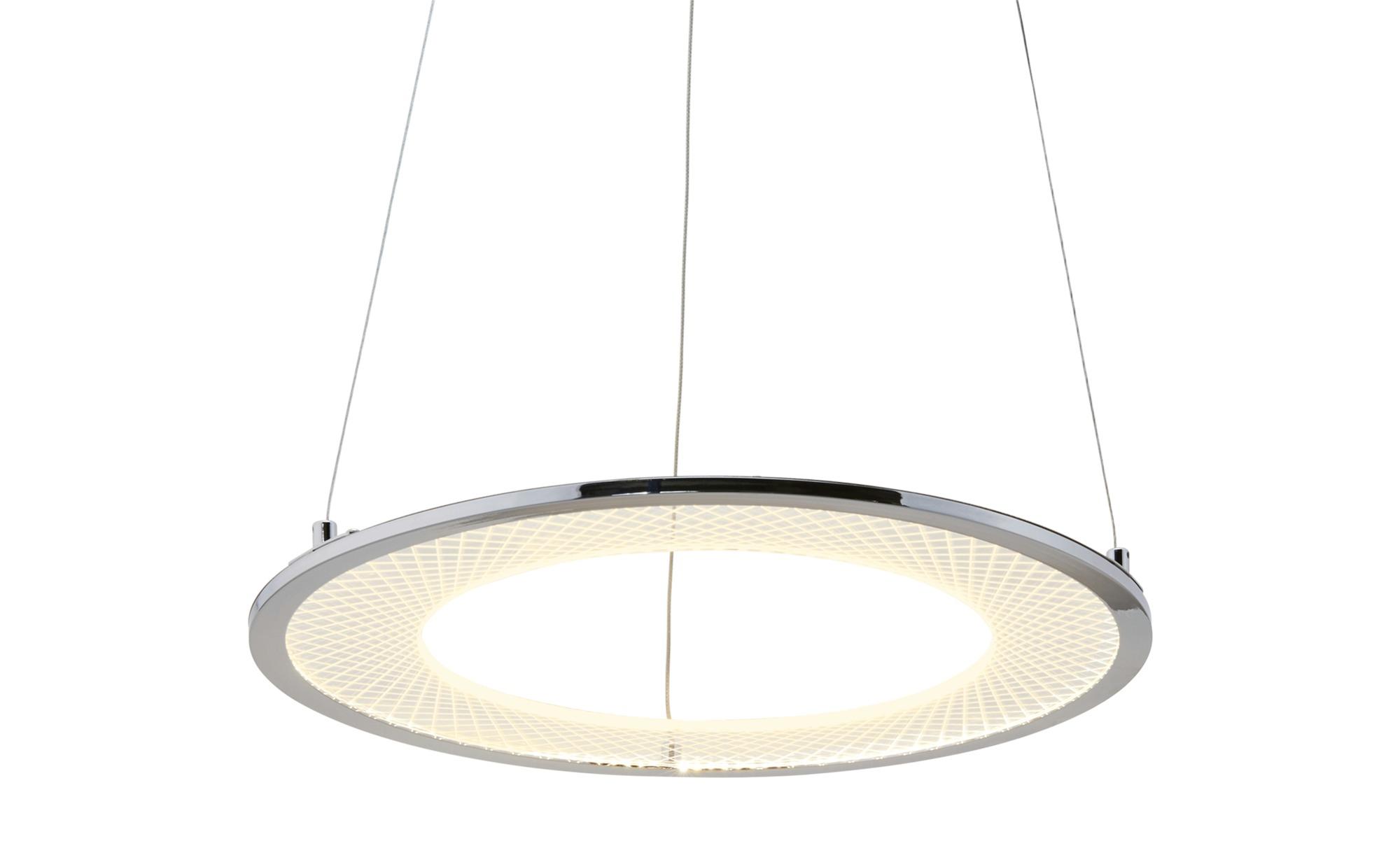 KHG LED-Pendelleuchte, chrom, Acrylring ¦ silber ¦ Maße (cm): H: 150 Ø: [46.5] Lampen & Leuchten > LED-Leuchten > LED-Pendelleuchten - Höffner