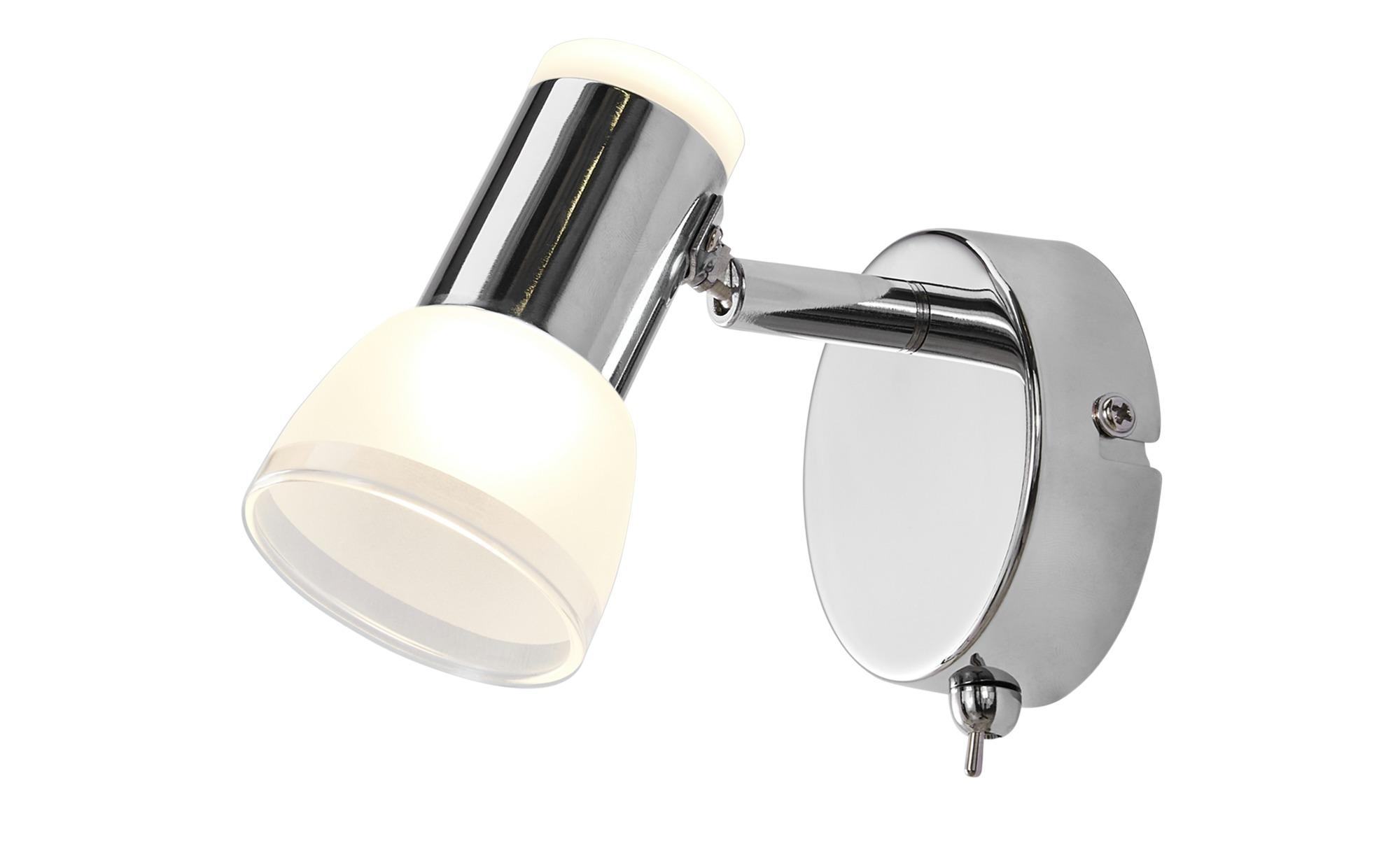 KHG LED-Wandstrahler, 1-flammig, chorm ¦ silber ¦ Maße (cm): H: 14,5 Ø: [8.0] Lampen & Leuchten > Innenleuchten > Wandleuchten - Höffner