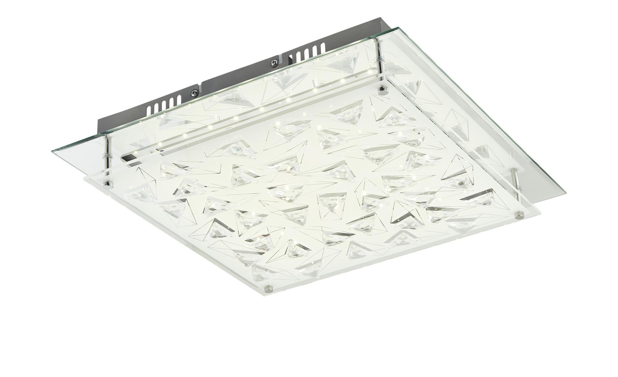 KHG LED-Deckenleuchte mit Kristallverzierung ¦ silber ¦ Maße (cm): B: 43 H: 8,5 Lampen & Leuchten > Innenleuchten > Deckenleuchten - Höffner