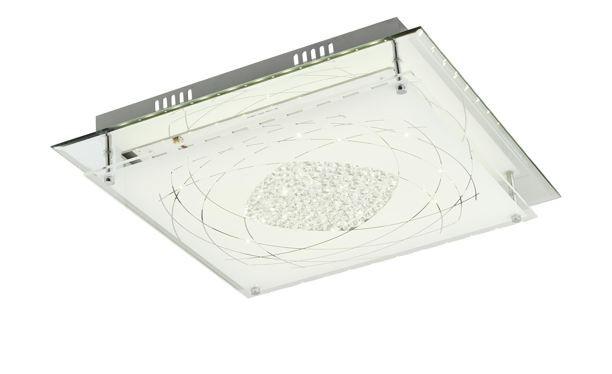 KHG LED-Deckenleuchte mit Verzierung ¦ silber ¦ Maße (cm): B: 43 H: 8,5 Lampen & Leuchten > Innenleuchten > Deckenleuchten - Höffner