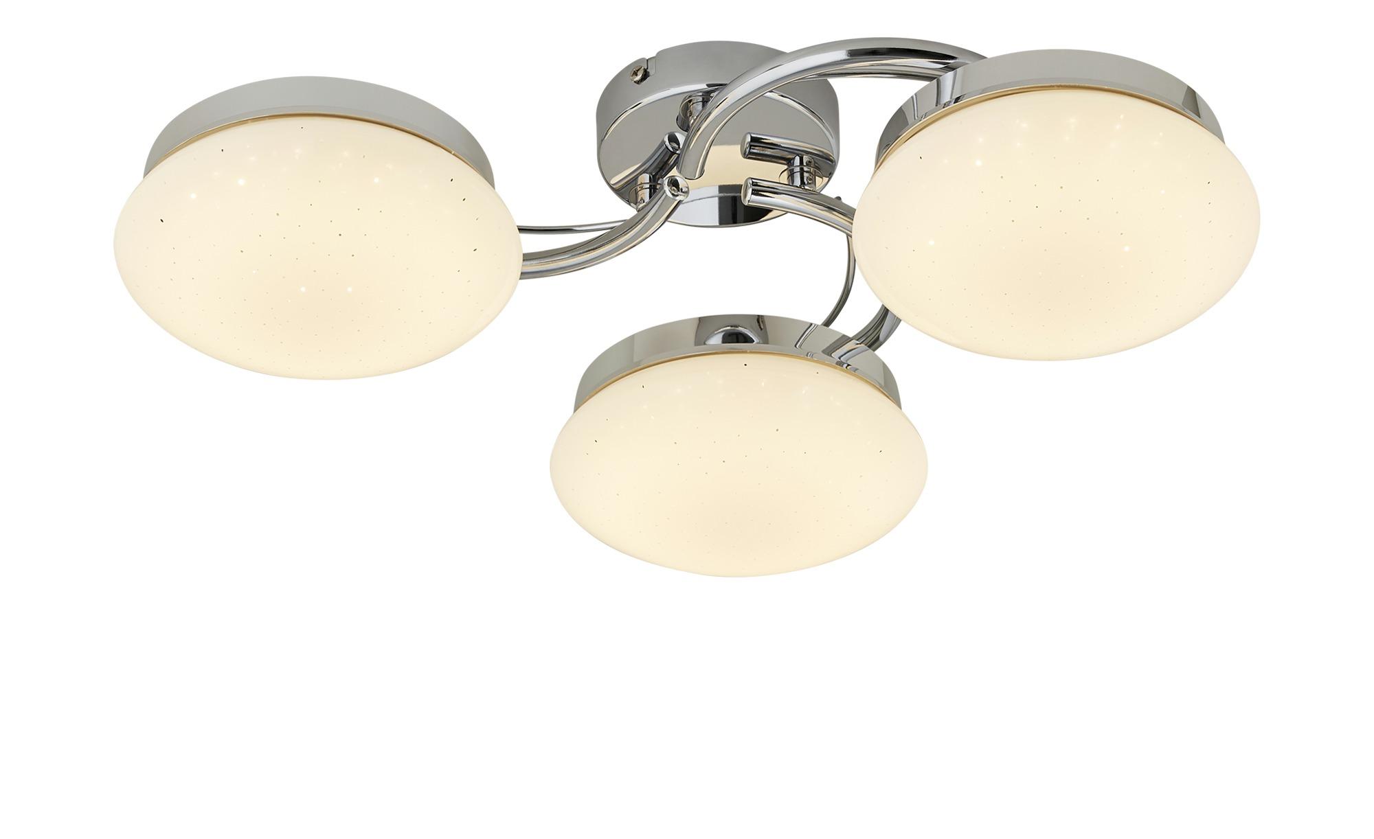 KHG LED-Deckenleuchte, 3-flammig, ´Sterneneffekt` ¦ silber ¦ Maße (cm): B: 56 H: 14 Lampen & Leuchten > Innenleuchten > Deckenleuchten - Höffner