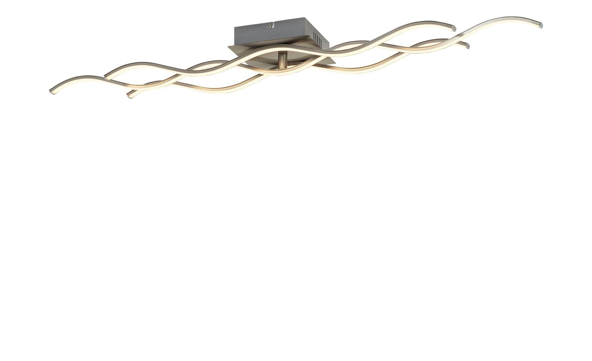 KHG LED-Deckenleuchte, Wellenförmige Leuchtelemente ¦ silber ¦ Maße (cm): B: 16 H: 9 Lampen & Leuchten > Innenleuchten > Deckenleuchten - Höffner