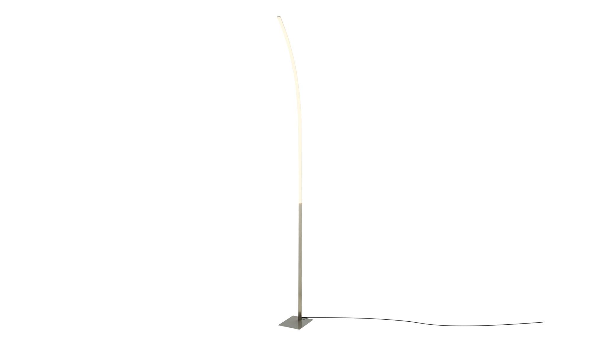 KHG LED-Stehleuchte, 1-flammig, alufarben ¦ silber ¦ Maße (cm): B: 14 H: 174 Lampen & Leuchten > Innenleuchten > Stehlampen - Höffner