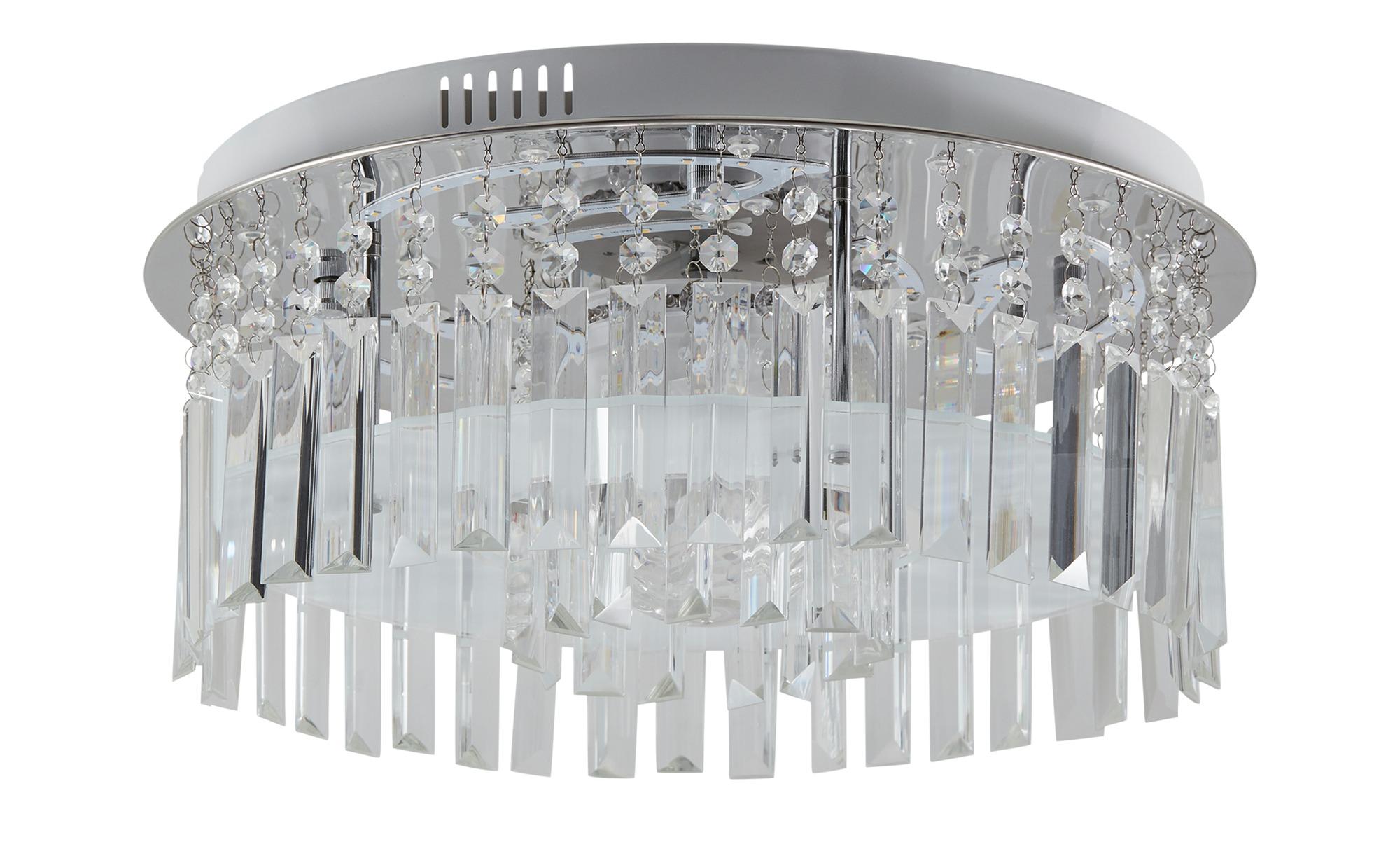 KHG LED-Deckenleuchte mit Discokugel ¦ silber ¦ Maße (cm): H: 25 Ø: 45 Lampen & Leuchten > Innenleuchten > Deckenleuchten - Höffner