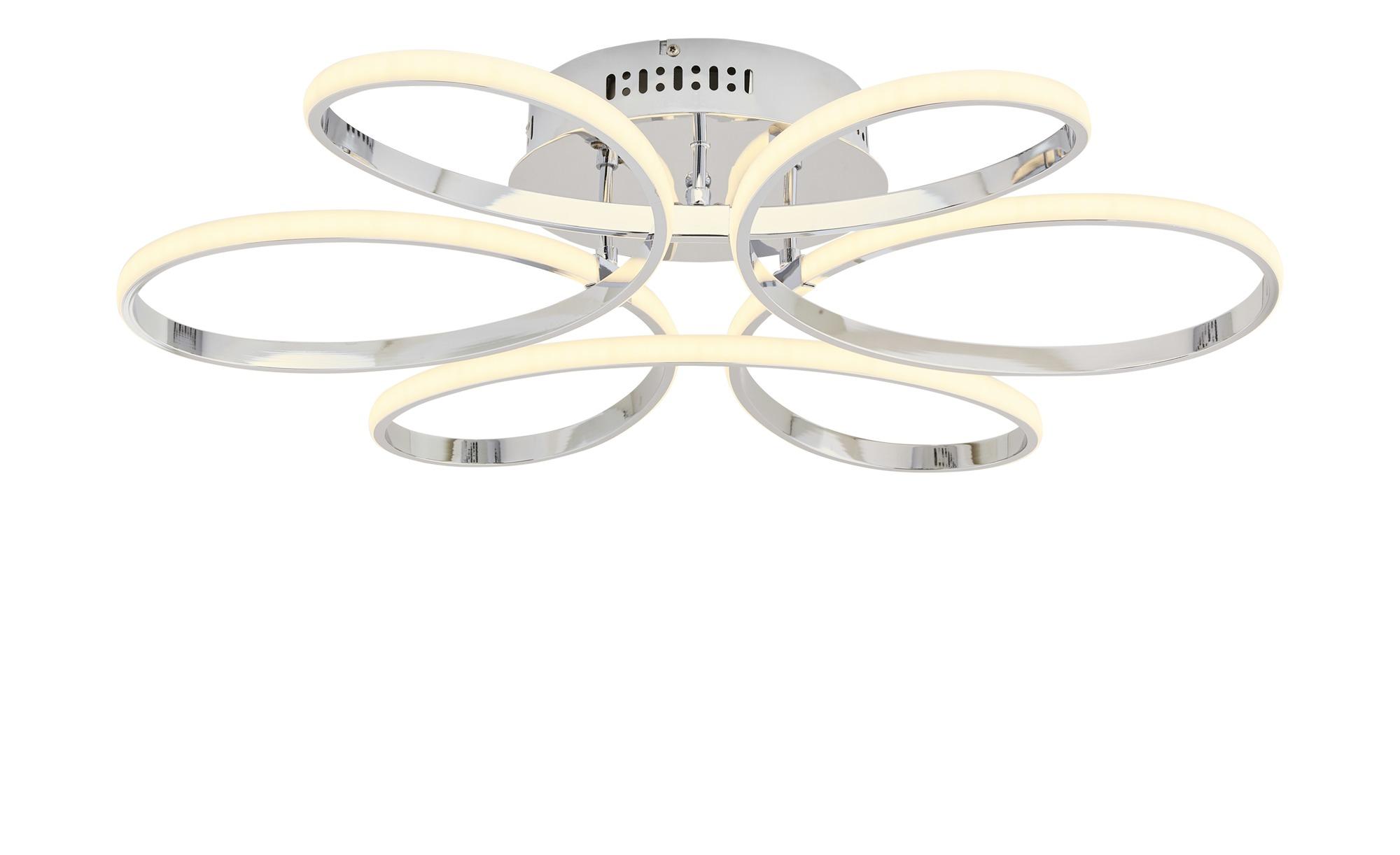 KHG LED-Deckenleuchte, chrom geschwungen ¦ silber ¦ Maße (cm): H: 14 Ø: [68.0] Lampen & Leuchten > Innenleuchten > Deckenleuchten - Höffner