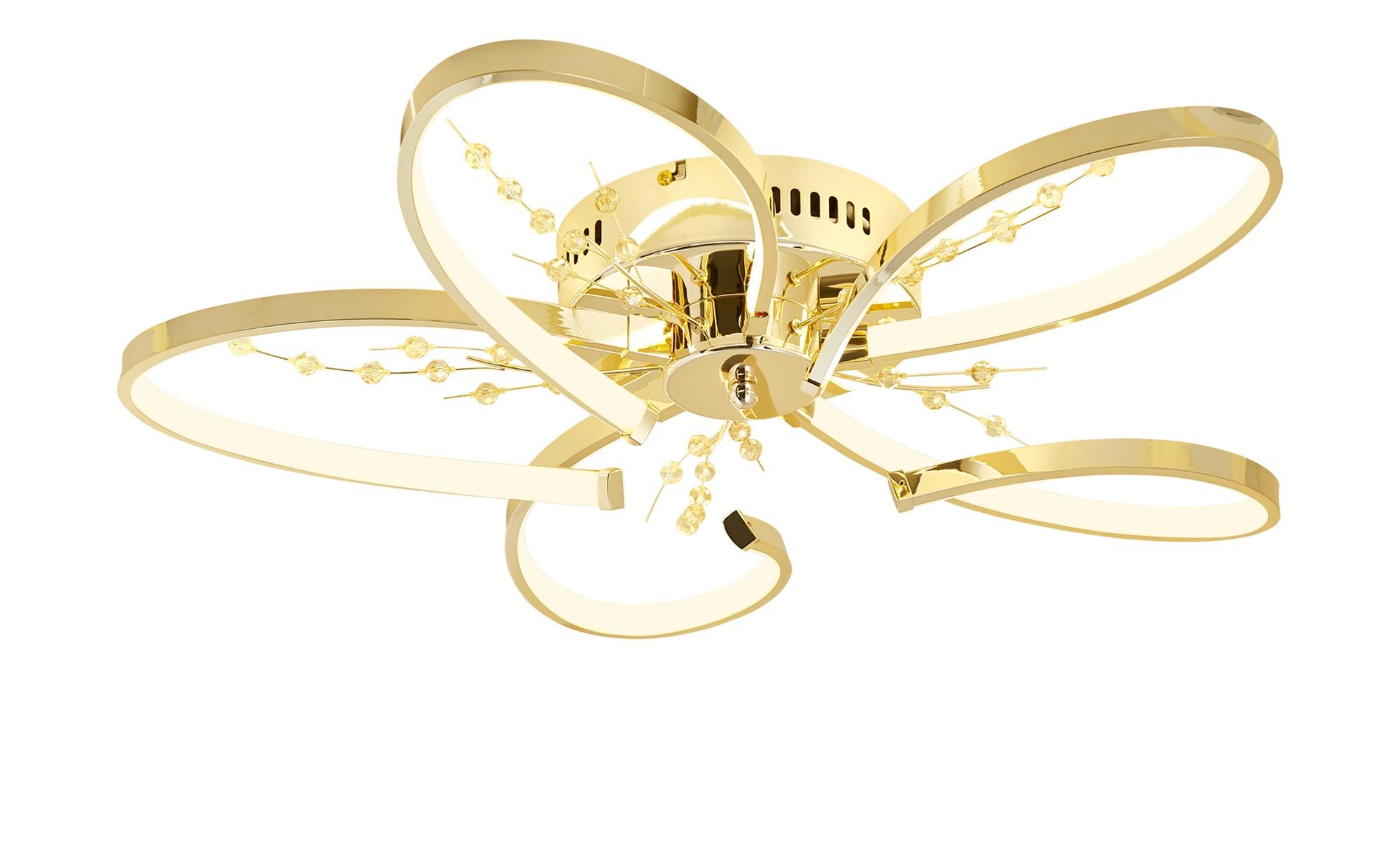 KHG LED-Deckenleuchte, 5-flammig, goldfarben ¦ gold ¦ Maße (cm): H: 12 Ø: [61.0] Lampen & Leuchten > Innenleuchten > Deckenleuchten - Höffner