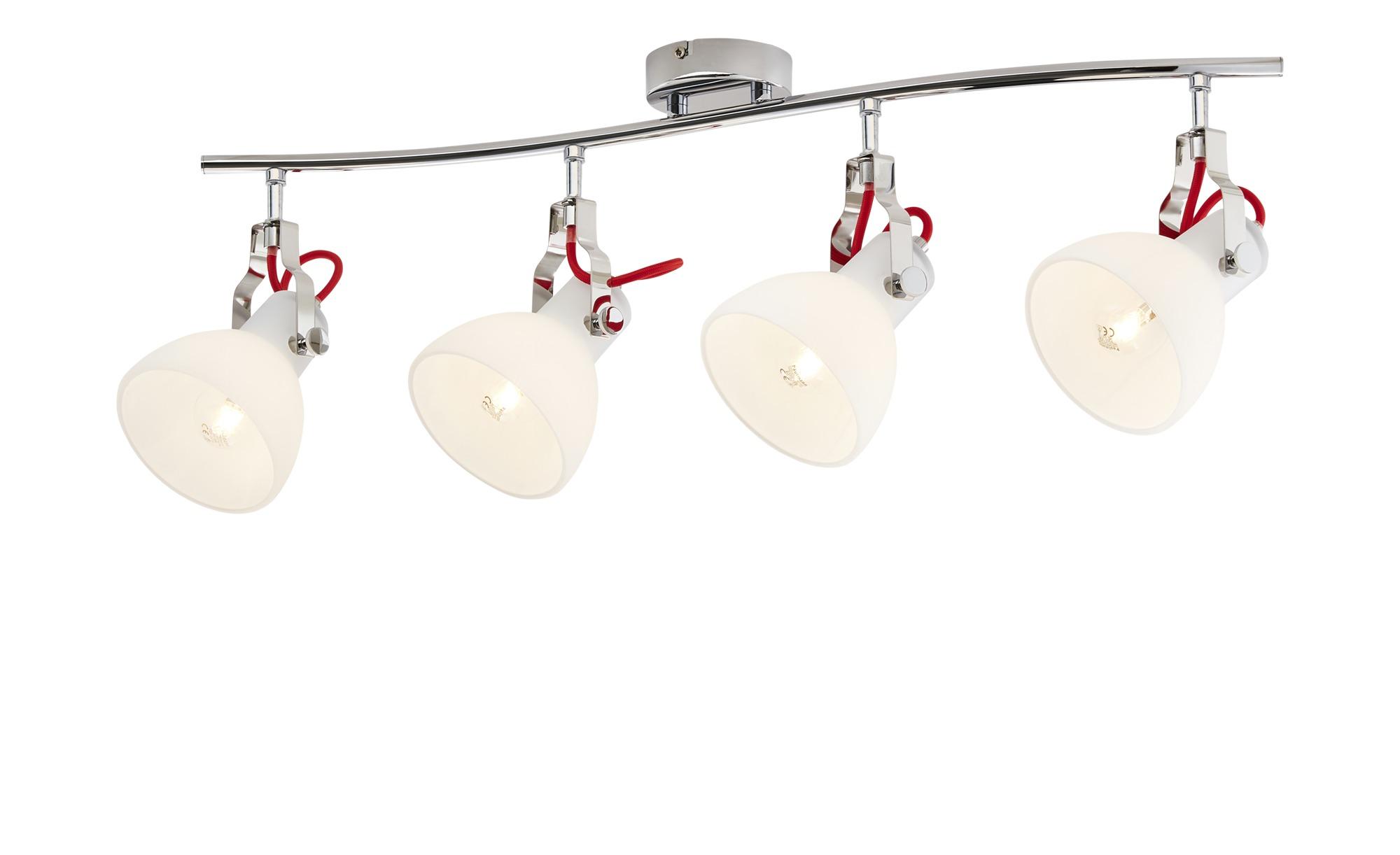 KHG Deckenleuchte, 4-flammig, chorm ¦ silber ¦ Maße (cm): B: 29,5 H: 24 Lampen & Leuchten > Innenleuchten > Deckenleuchten - Höffner