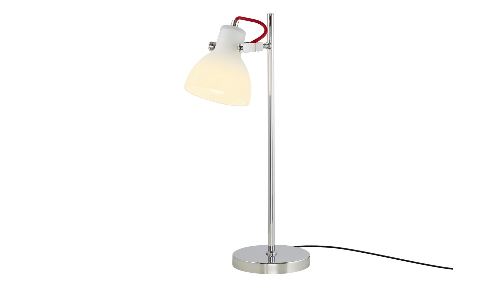 KHG Tischleuchte, 1-flammig, chrom ¦ silber ¦ Maße (cm): B: 15 H: 51,5 Lampen & Leuchten > Innenleuchten > Tischlampen - Höffner